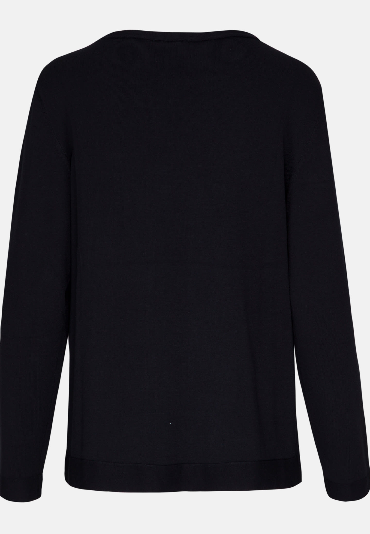 Crew Neck Pullover made of viscose blend in Dark blue |  Seidensticker Onlineshop