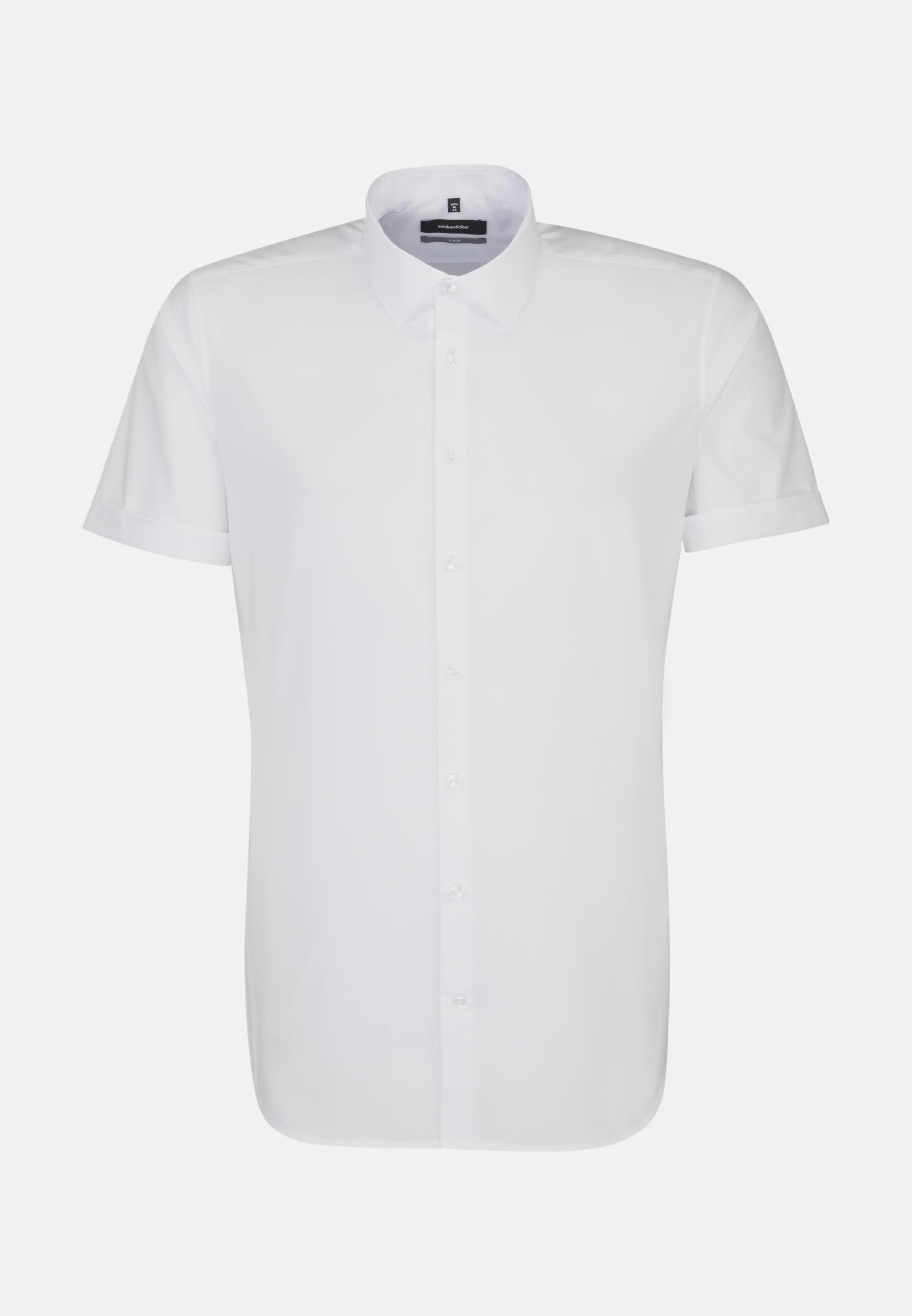Non-iron Poplin Short sleeve Business Shirt in X-Slim with Kent-Collar in White |  Seidensticker Onlineshop