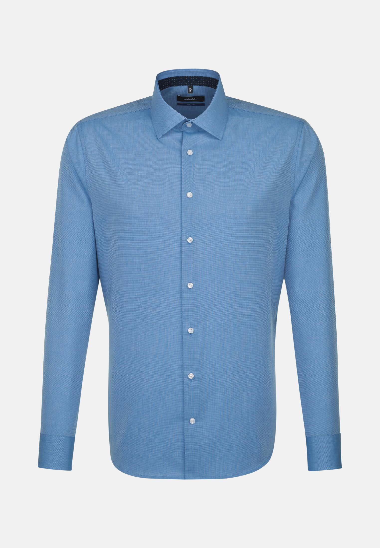 Non-iron Fil a fil Business Shirt in Shaped with Kent-Collar in Blau |  Seidensticker Onlineshop
