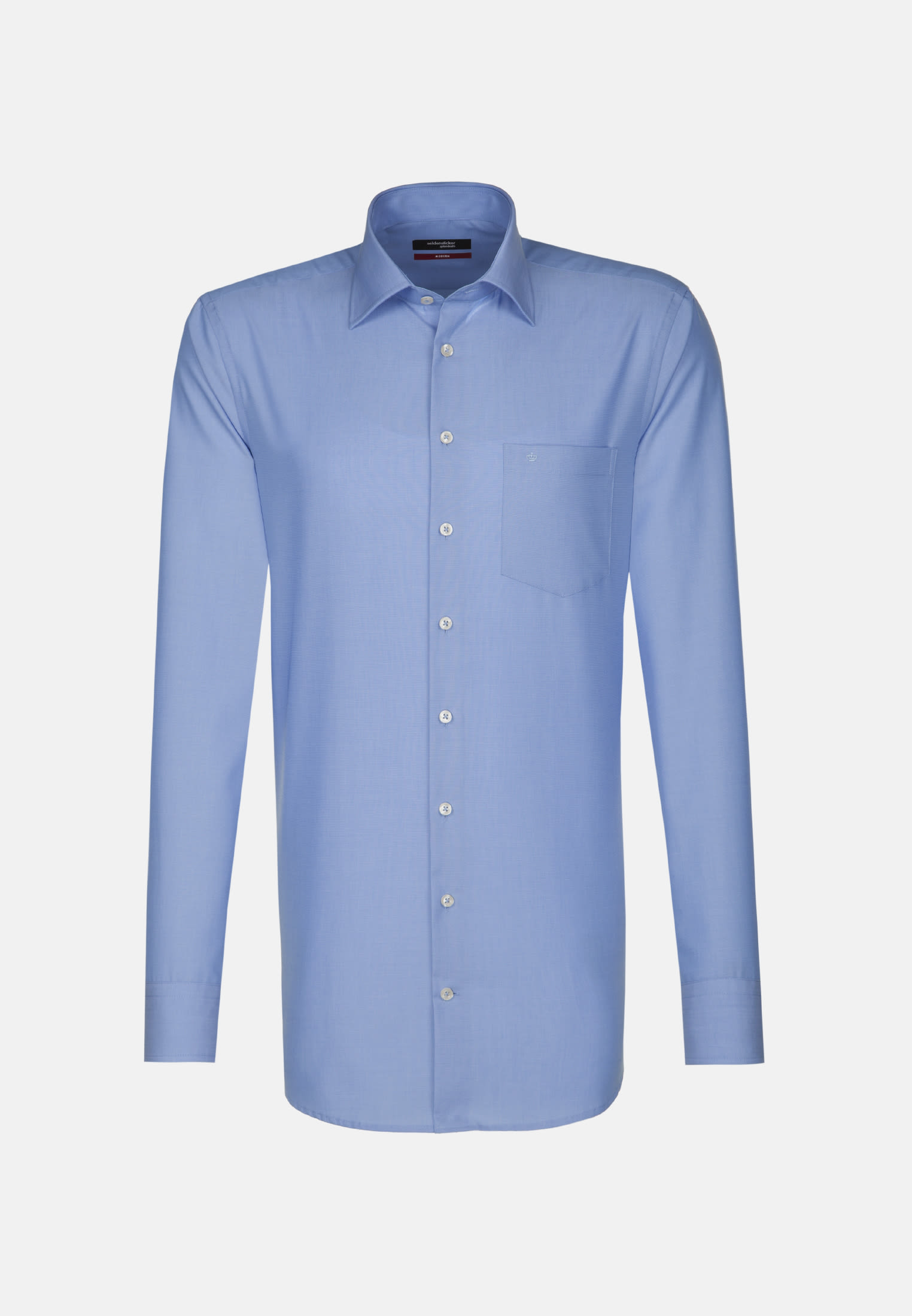 Non-iron Poplin Business Shirt in Regular with Kent-Collar and extra long sleeve in Mittelblau |  Seidensticker Onlineshop