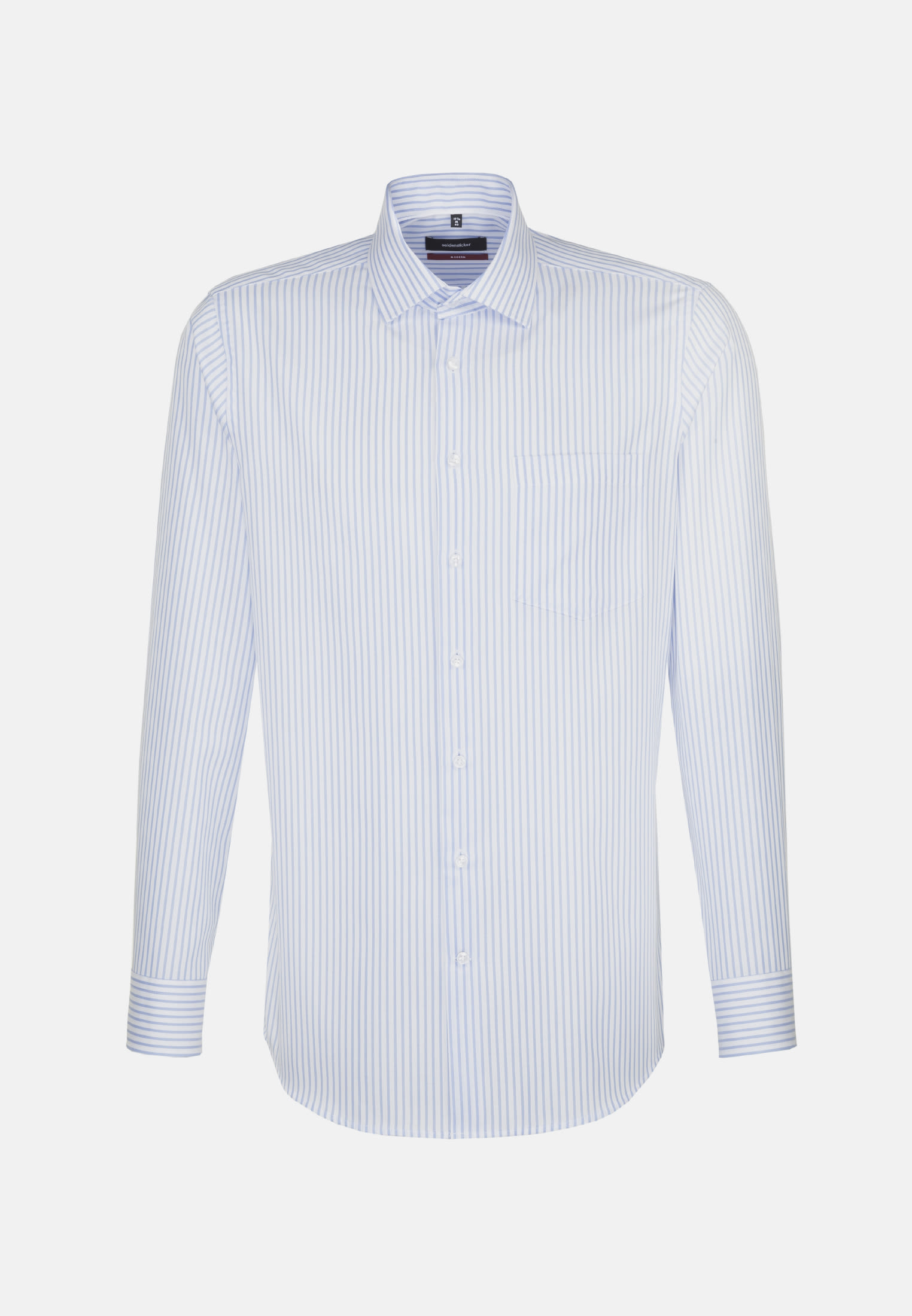 Non-iron Structure Business Shirt in Regular with Kent-Collar in Light blue |  Seidensticker Onlineshop
