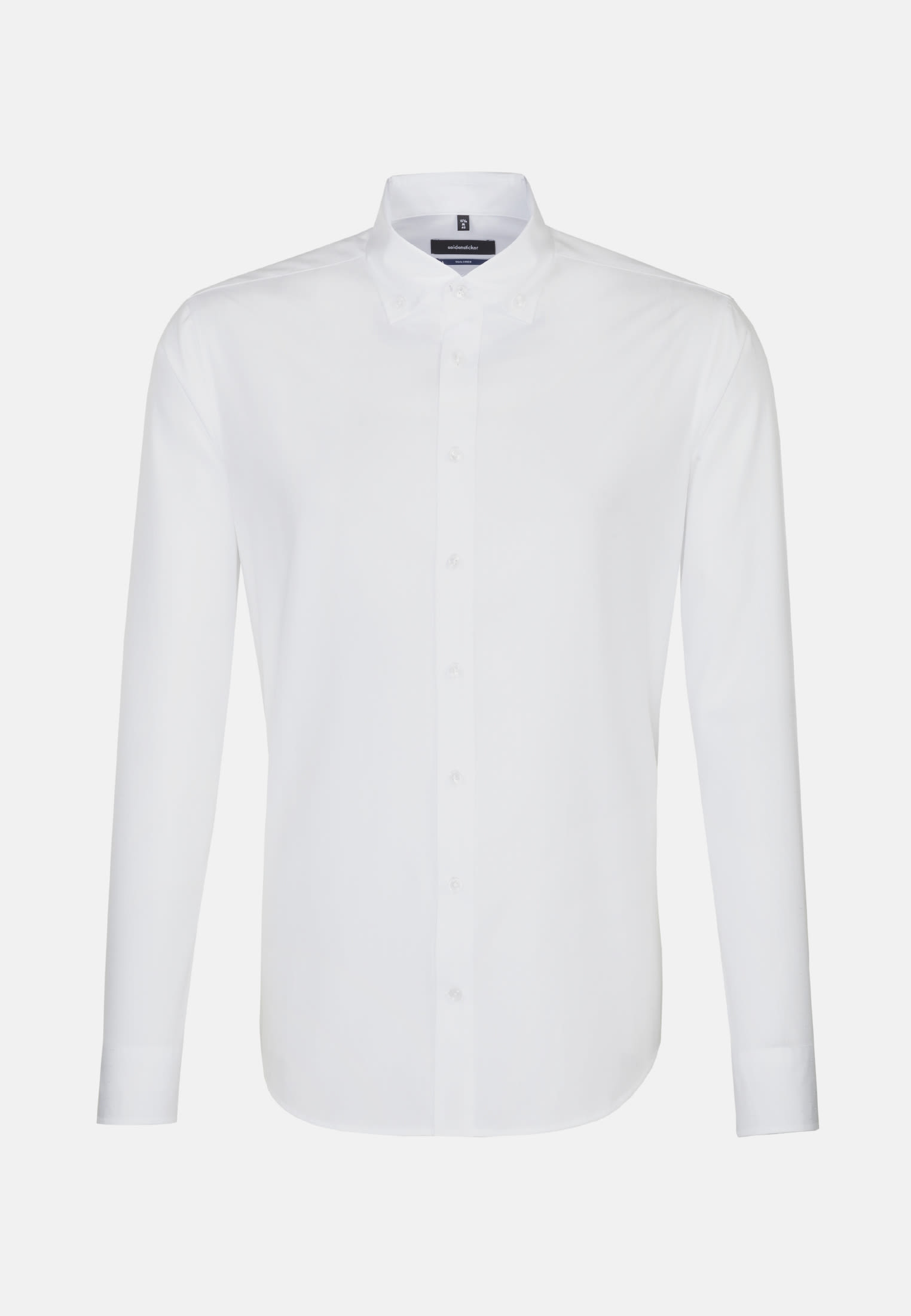 Easy-iron Dobby Business Shirt in Tailored with Button-Down-Collar in White |  Seidensticker Onlineshop