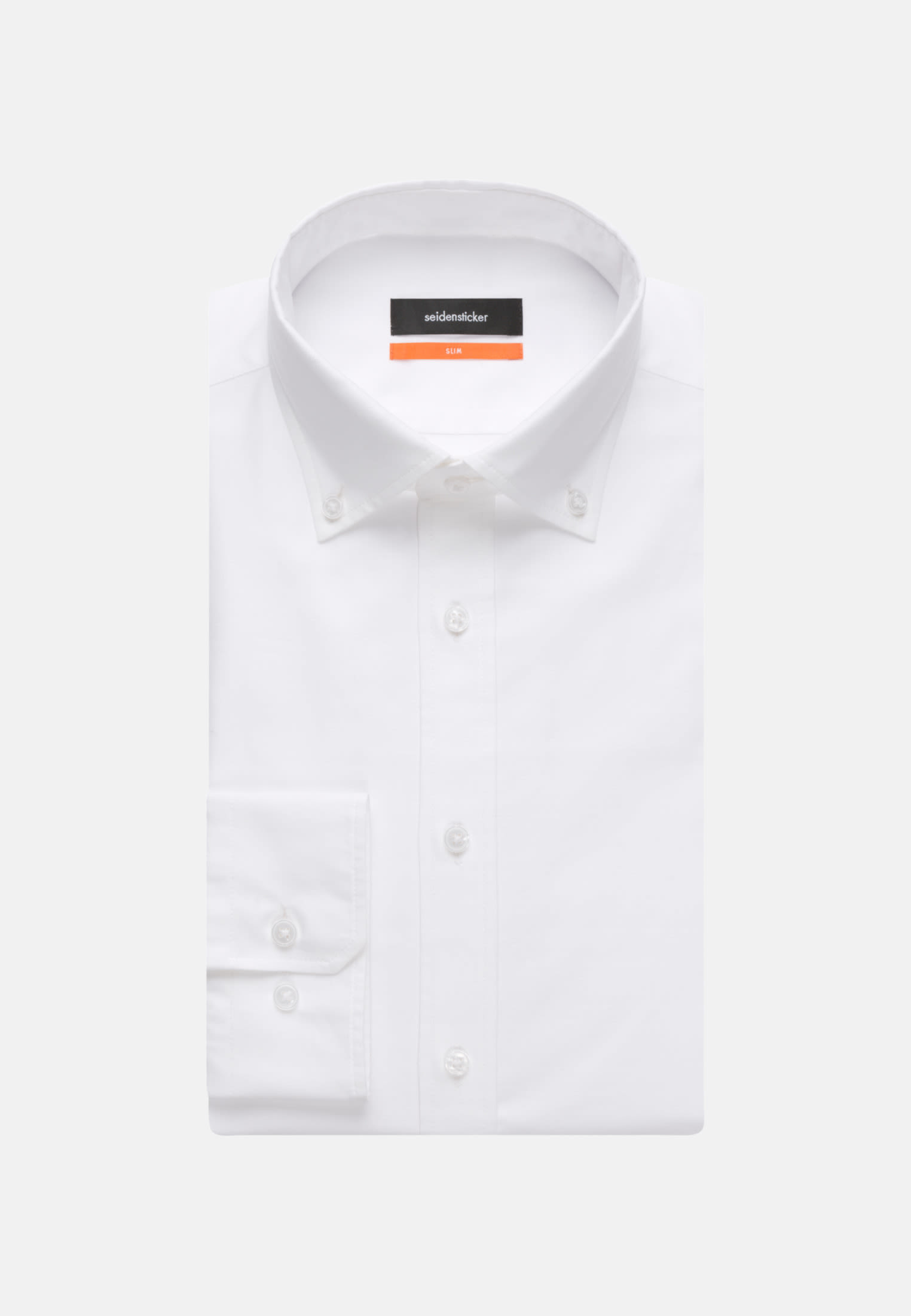 Easy-iron Oxford Business Shirt in Slim with Button-Down-Collar in White |  Seidensticker Onlineshop