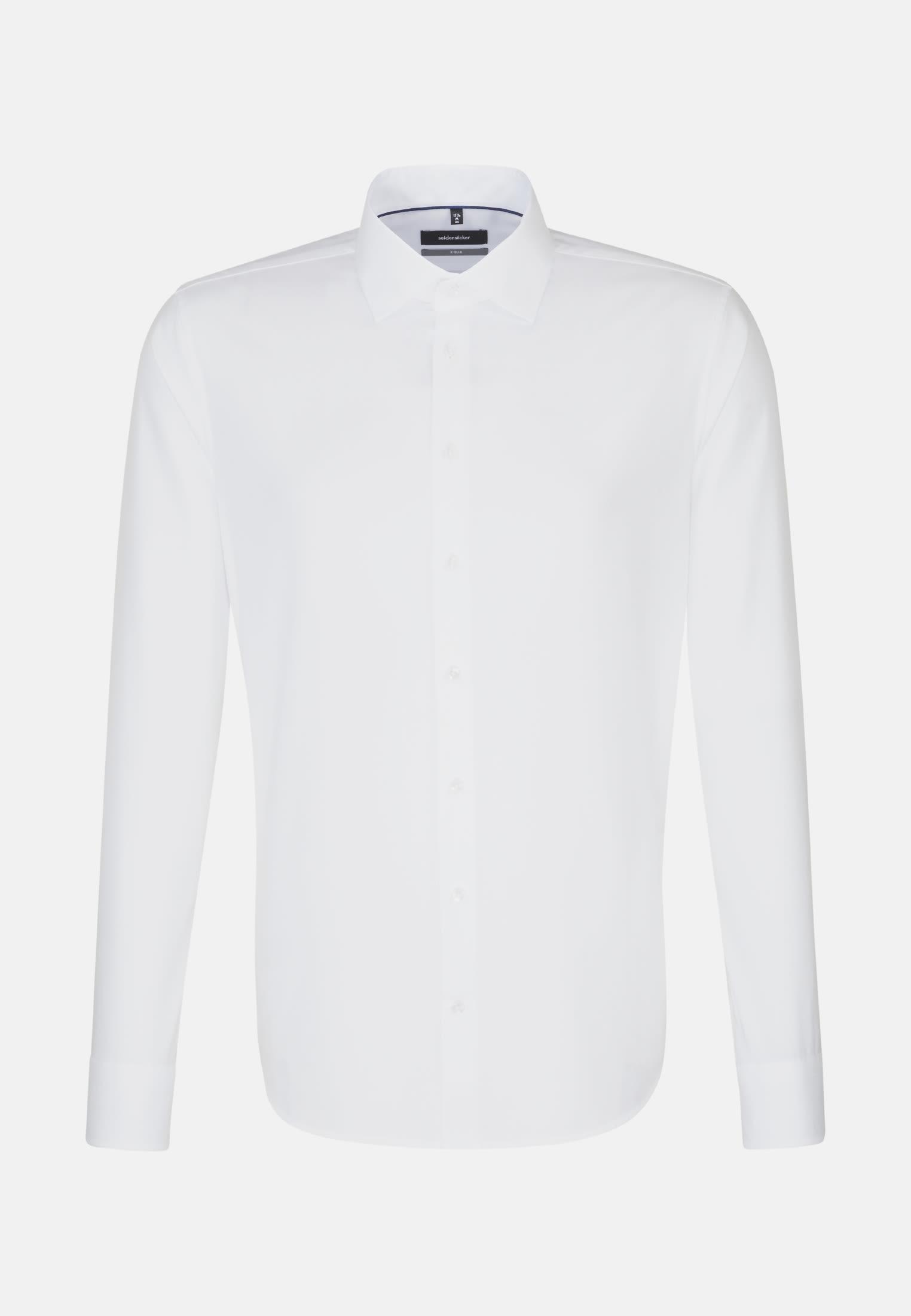 Non-iron Structure Business Shirt in X-Slim with Kent-Collar in weiß |  Seidensticker Onlineshop