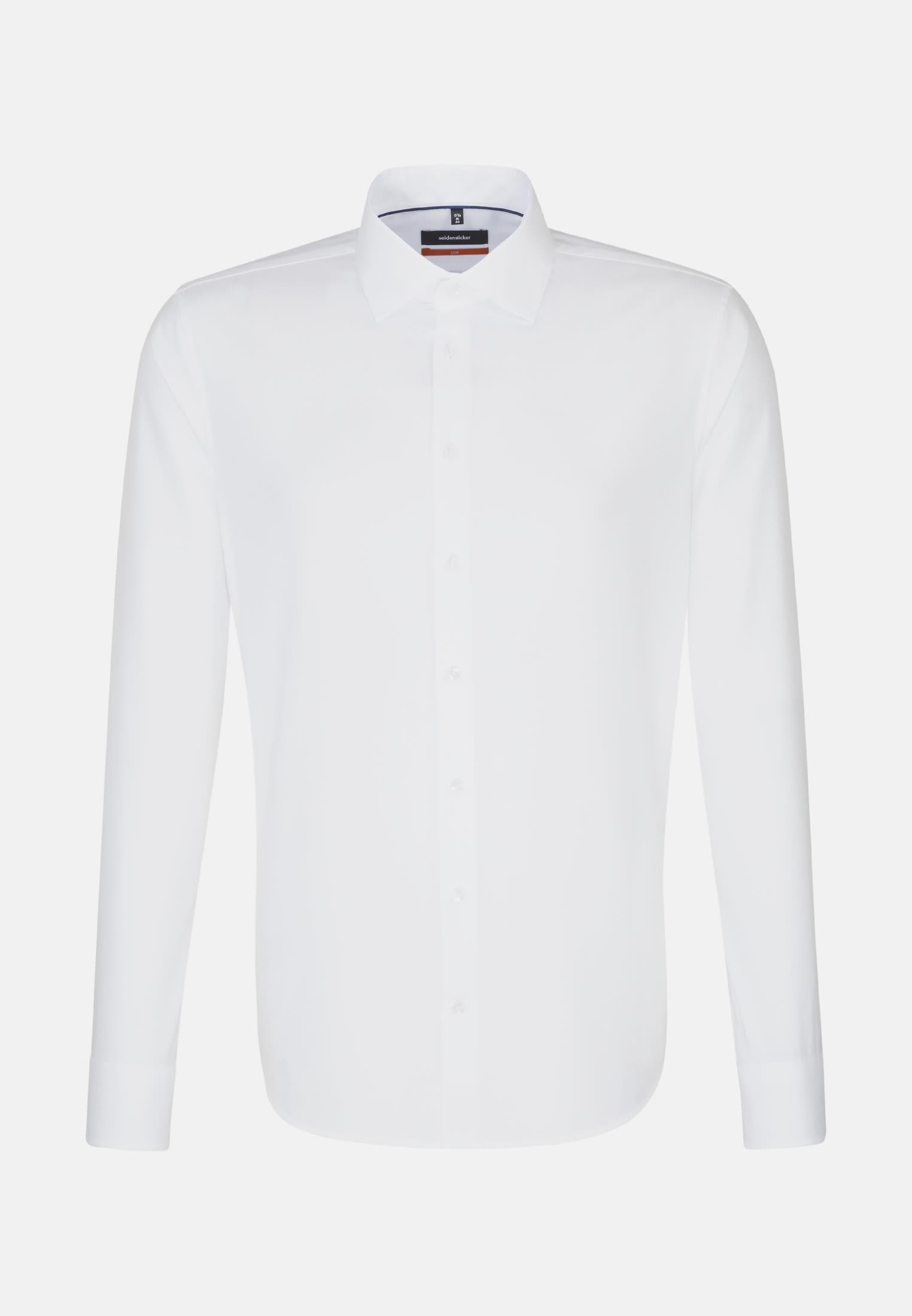 Non-iron Structure Business Shirt in Slim with Kent-Collar in White    Seidensticker Onlineshop
