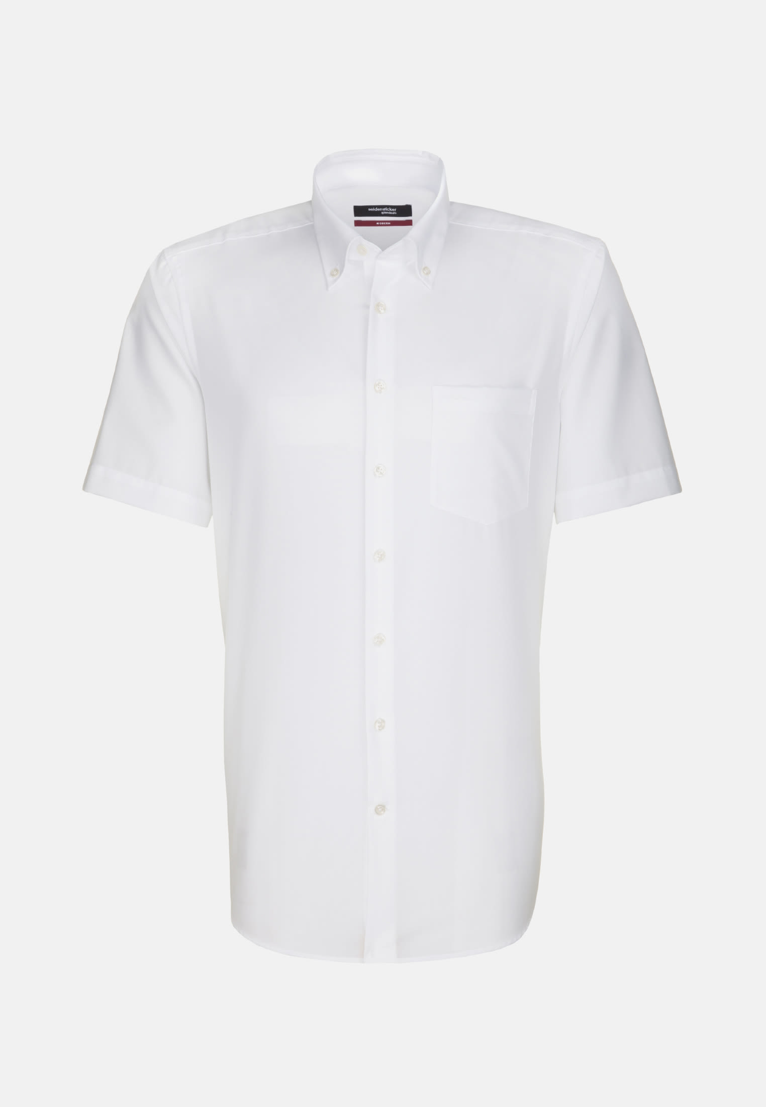 Non-iron Poplin Short arm Business Shirt in Regular with Button-Down-Collar in White |  Seidensticker Onlineshop