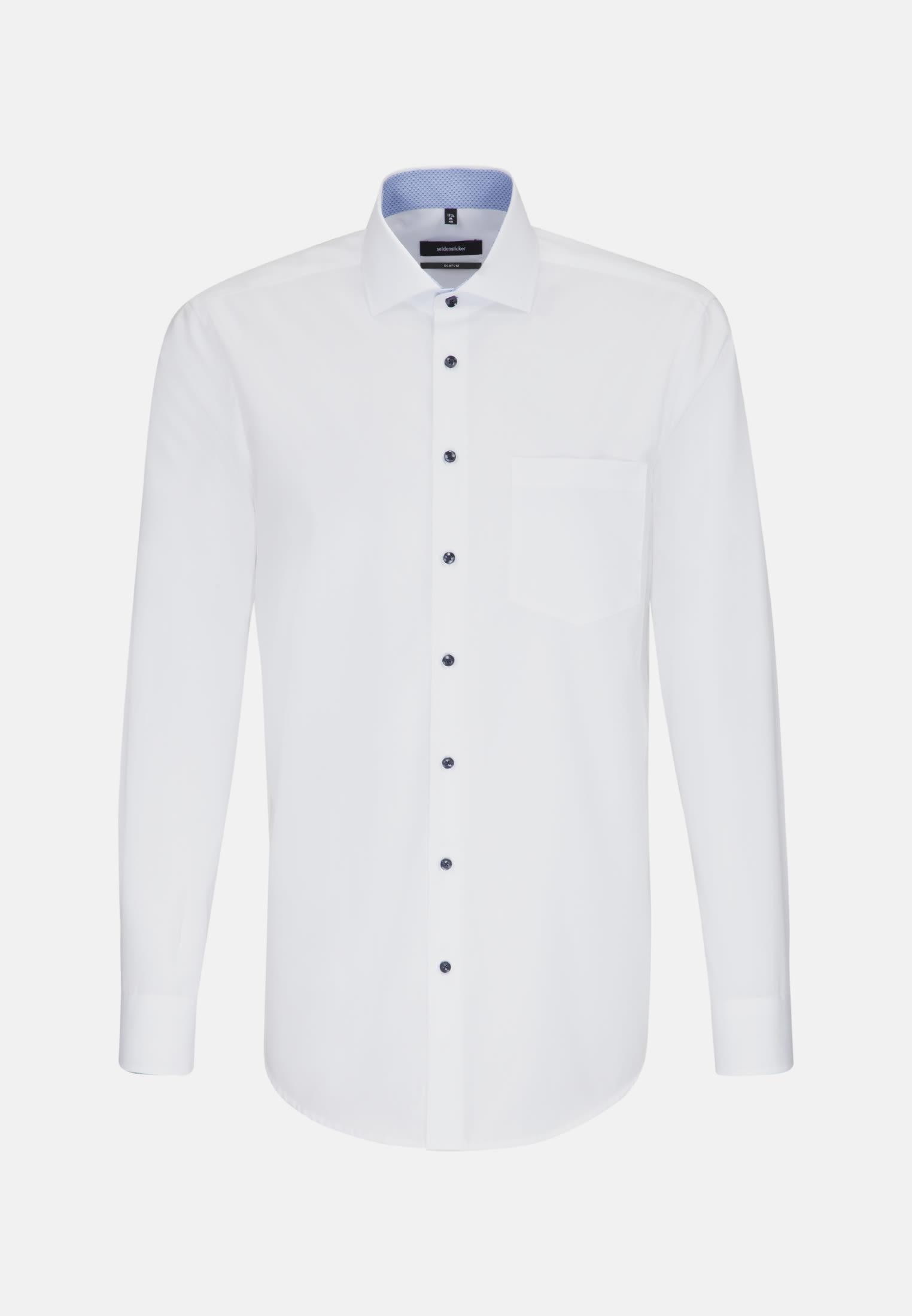 Non-iron Poplin Business Shirt in Comfort with Kent-Collar in Weiß |  Seidensticker Onlineshop