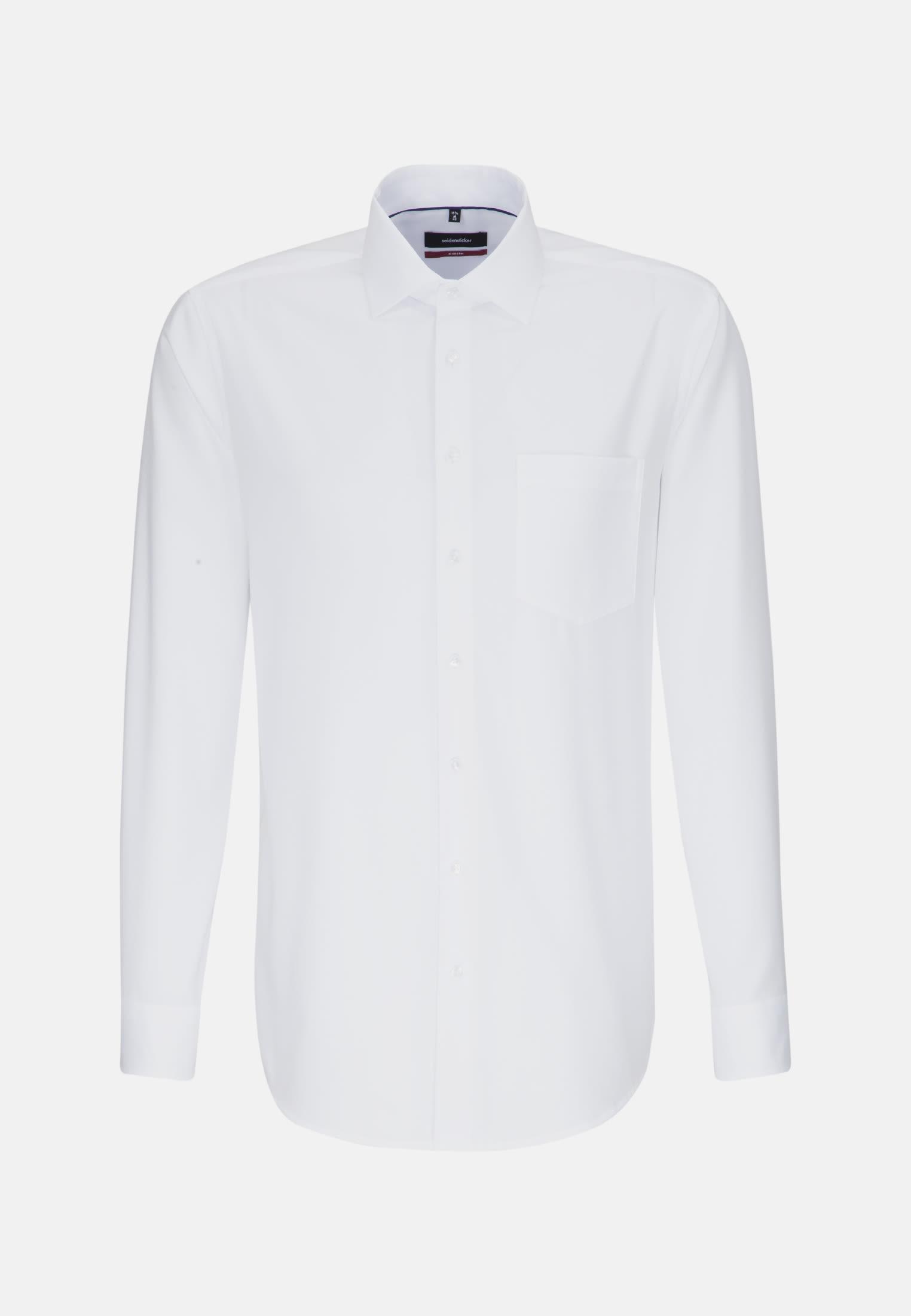Bügelfreies Struktur Business Hemd in Regular mit Kentkragen in Weiß    Seidensticker Onlineshop