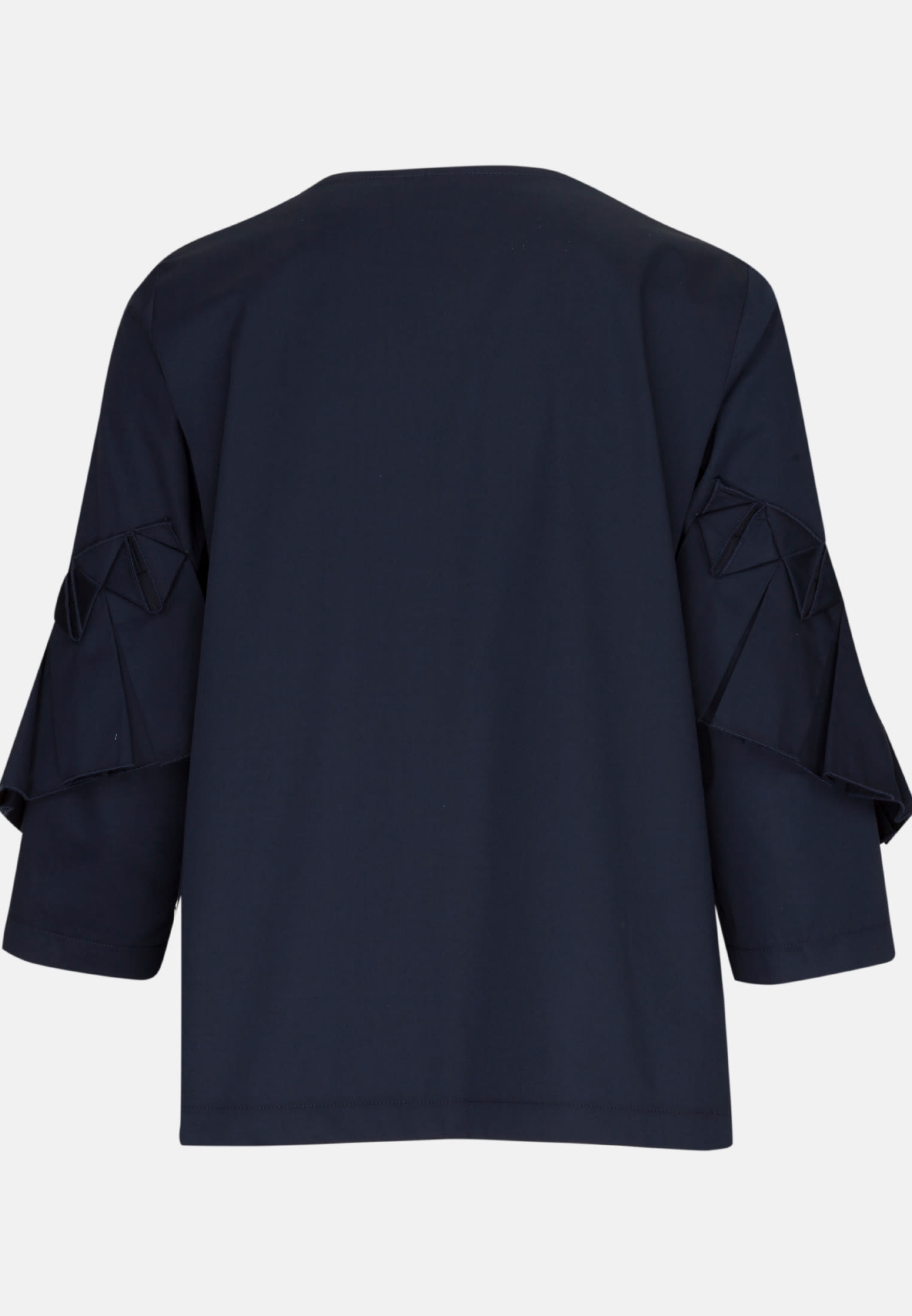 3/4 arm Satin Shirt Blouse made of 97% Cotton 3% Elastane in Dark blue |  Seidensticker Onlineshop
