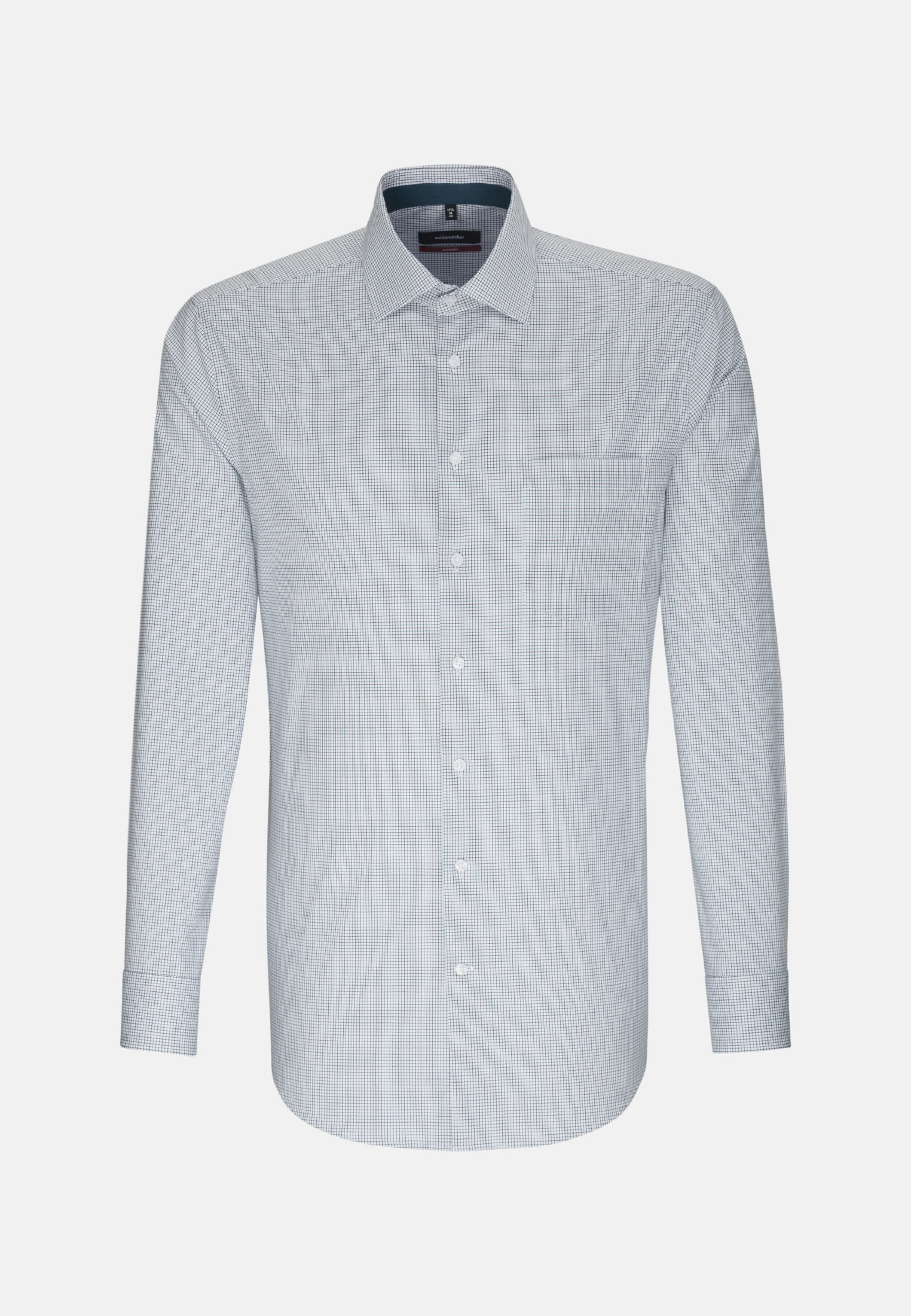 Bügelfreies Popeline Business Hemd in Regular mit Kentkragen in Grün    Seidensticker Onlineshop