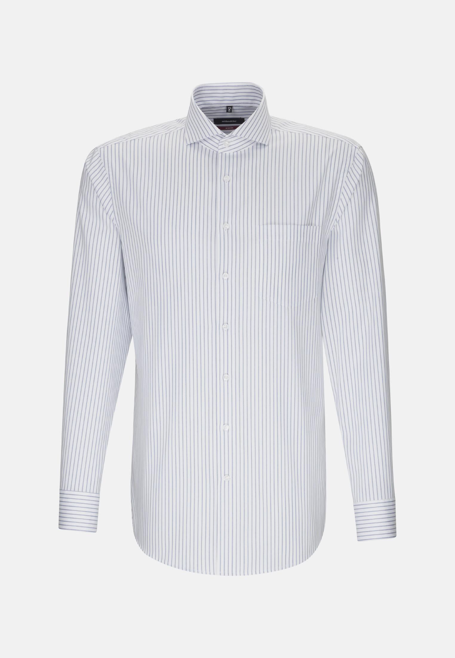 Non-iron Twill Business Shirt in Regular with Shark Collar in Light blue |  Seidensticker Onlineshop