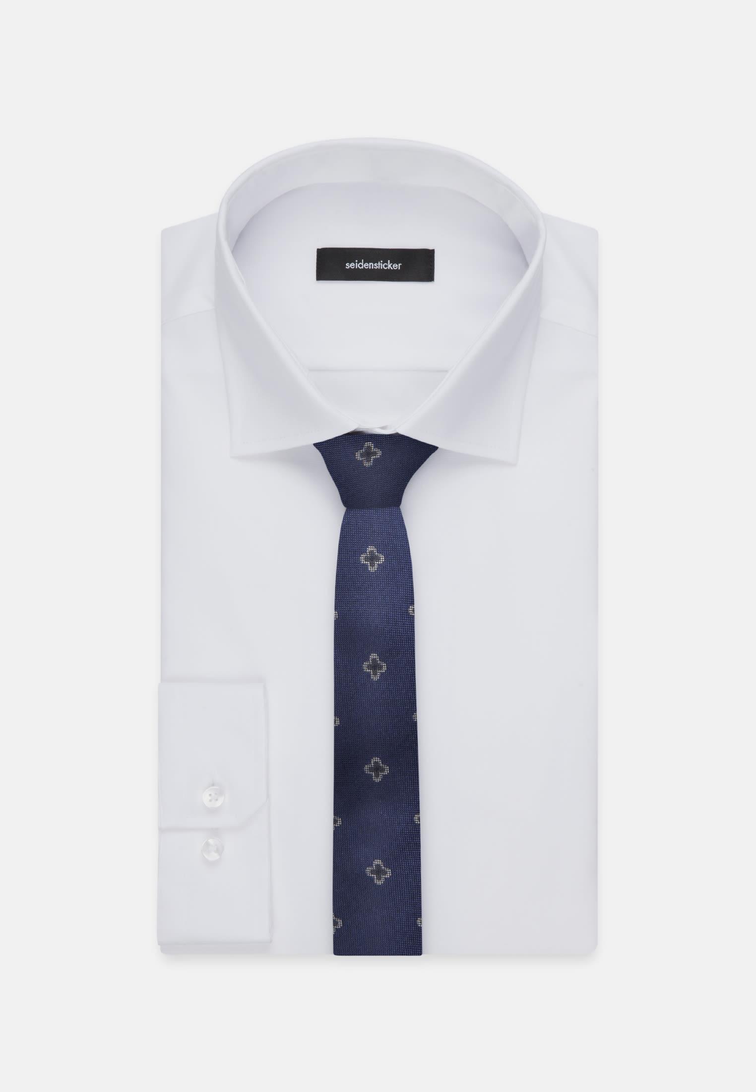 Tie made of 100% Silk 5 cm wide in Medium blue    Seidensticker Onlineshop