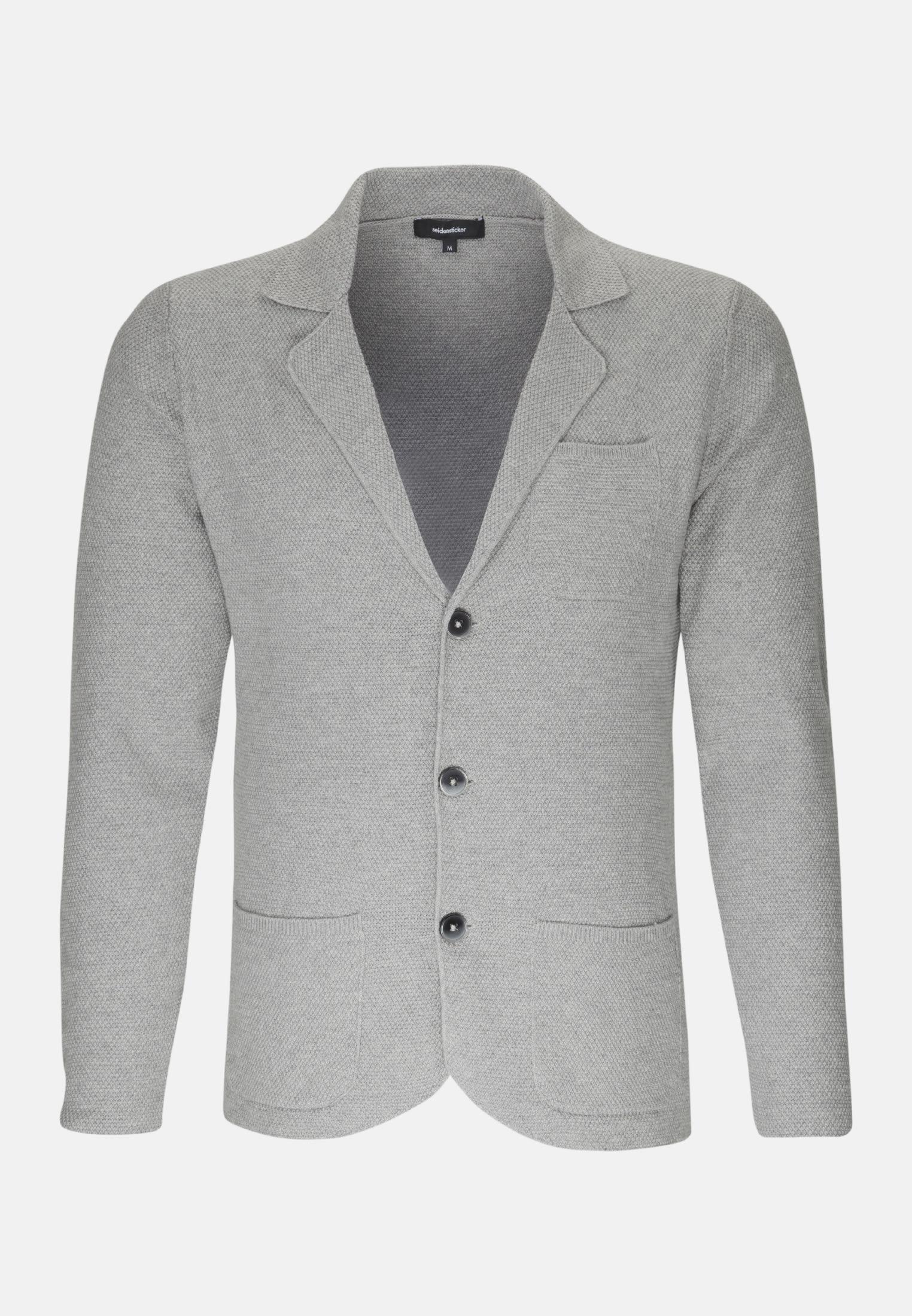 Sakko aus Baumwollmischung in Grau |  Seidensticker Onlineshop