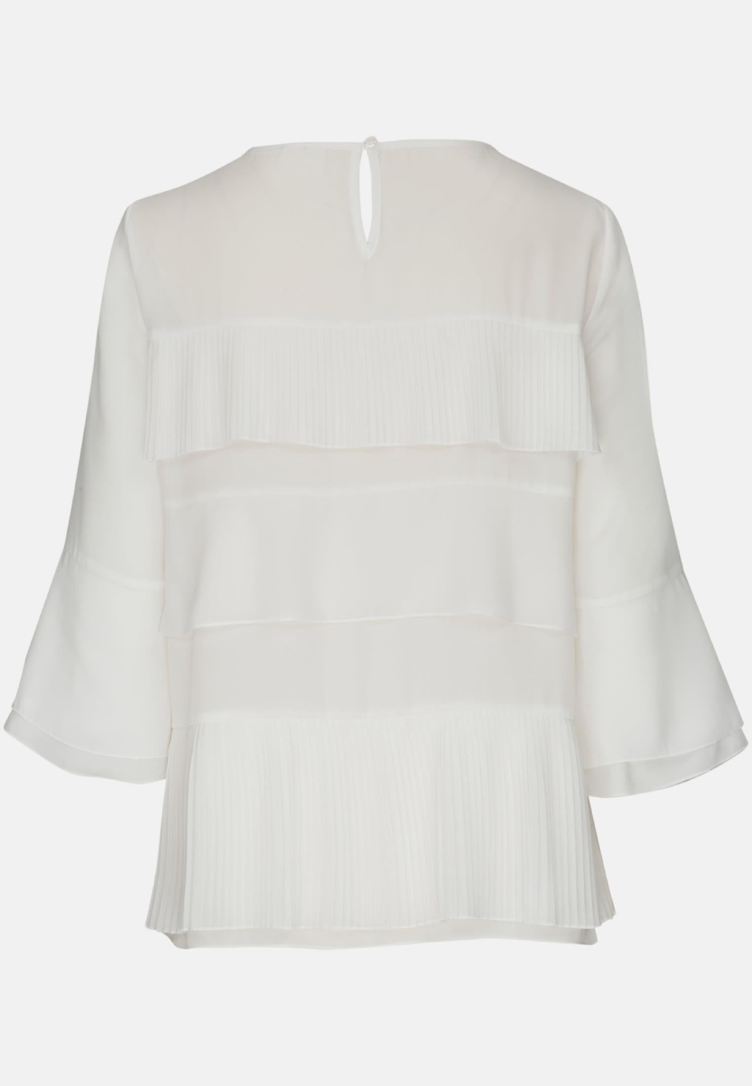 3/4 sleeve Chiffon Shirt Blouse aus 100% Polyester in Ecru |  Seidensticker Onlineshop