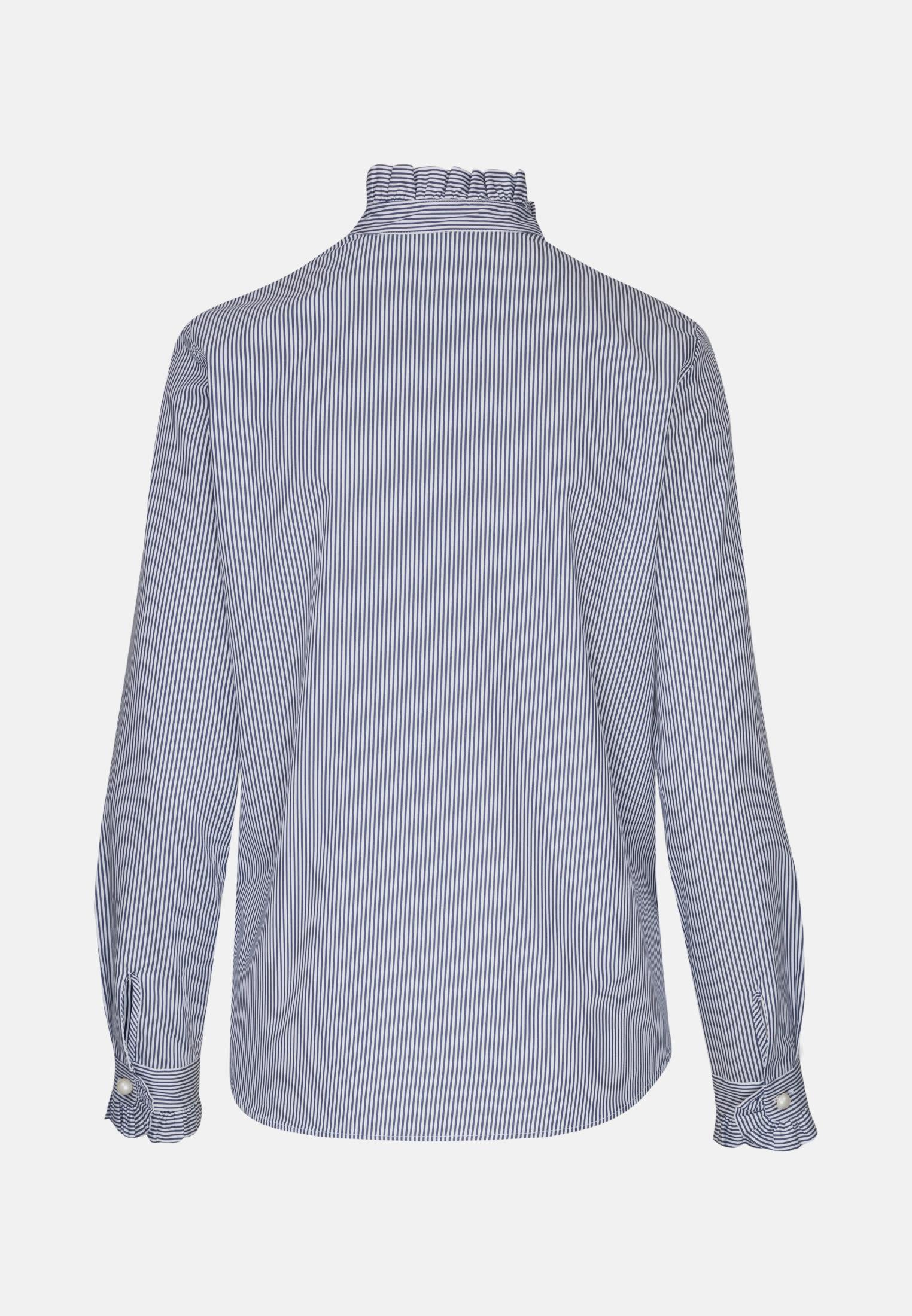 Poplin Stand-Up Blouse made of 100% Cotton in marine |  Seidensticker Onlineshop