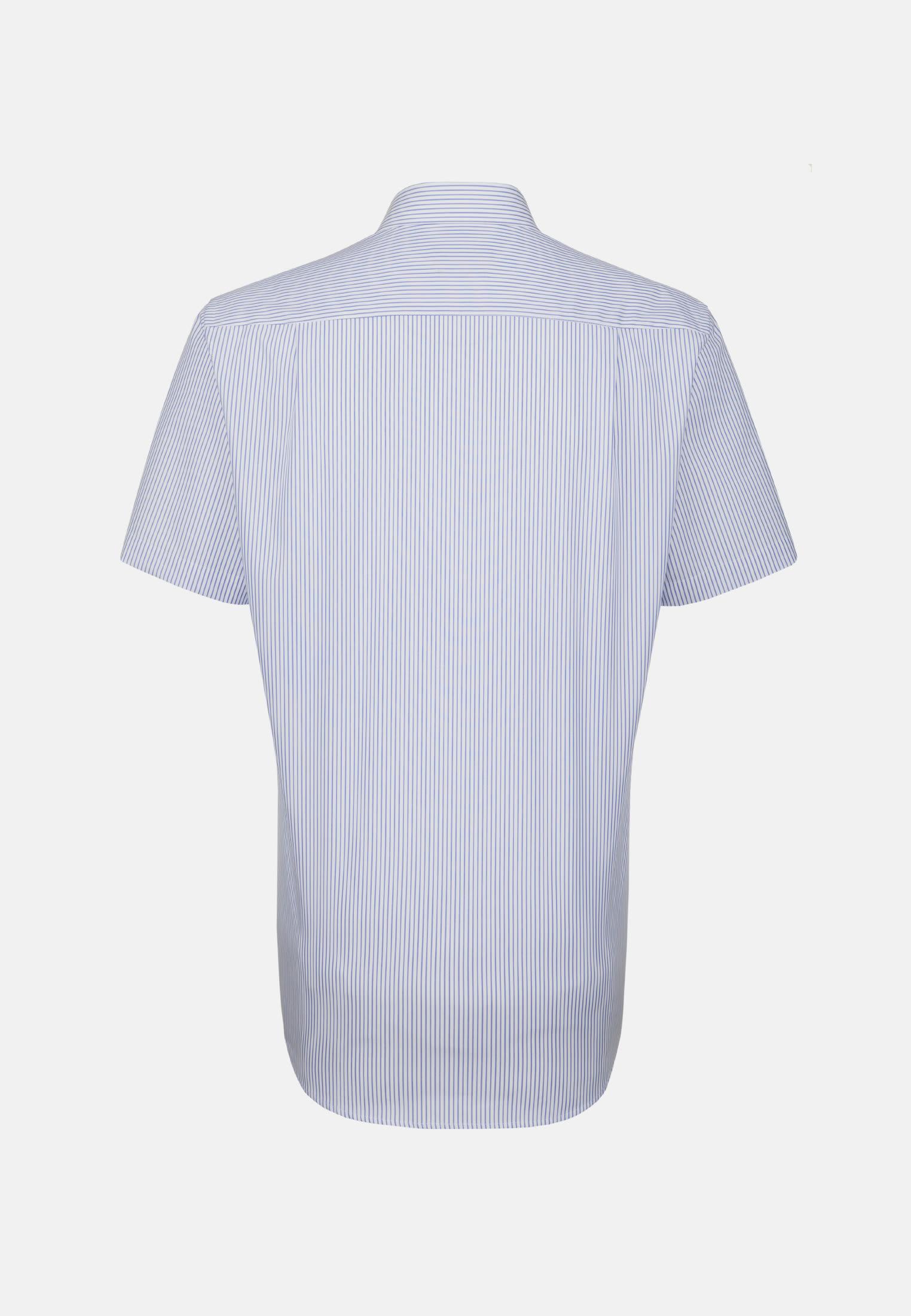 Non-iron Poplin Short arm Business Shirt in Modern with Kent-Collar in weiß/ blau |  Seidensticker Onlineshop