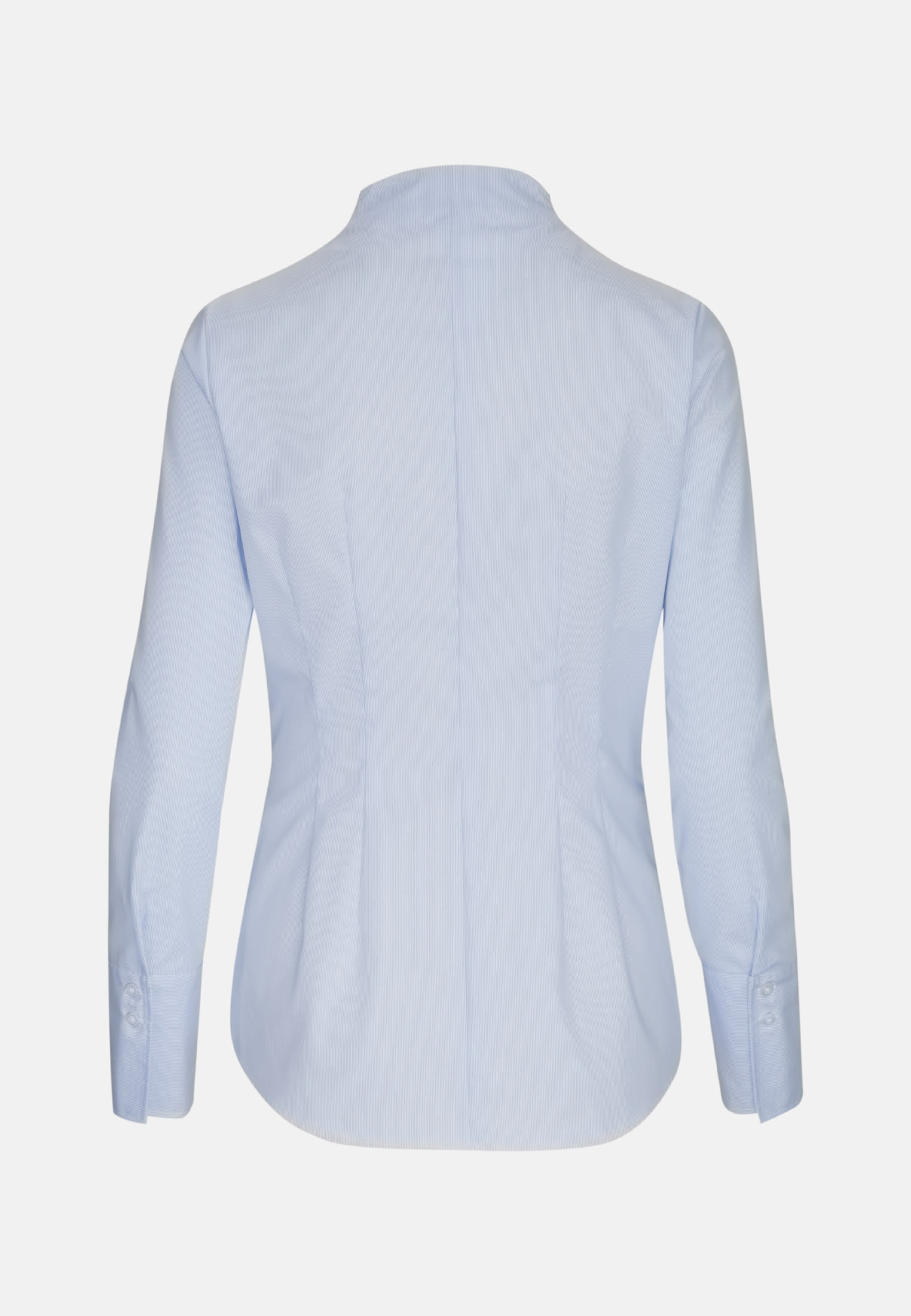 Non-iron Poplin Chalice Blouse made of 100% Cotton in Hellblau |  Seidensticker Onlineshop