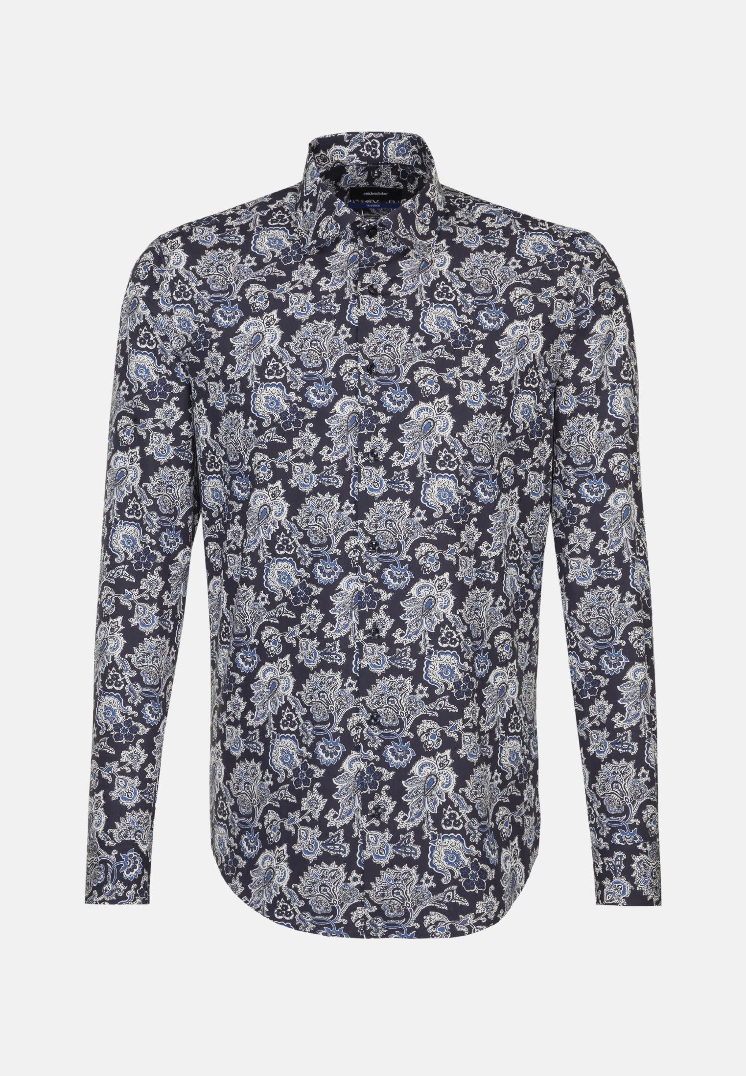 Easy-iron Poplin Business Shirt in Tailored with Kent-Collar in Medium blue |  Seidensticker Onlineshop