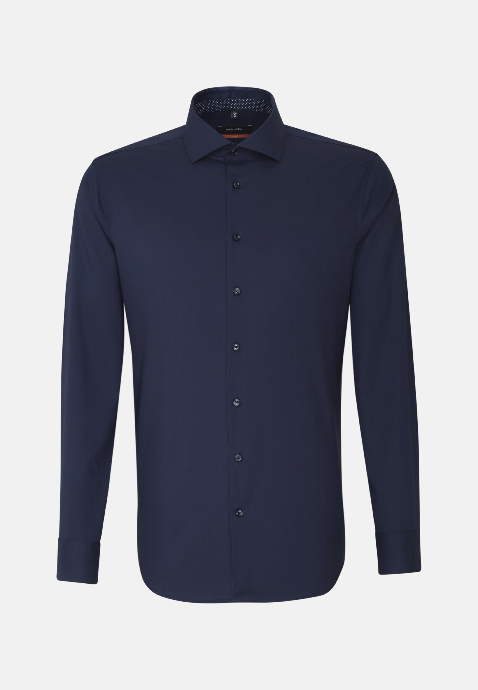 Non-iron Fil a fil Business Shirt in Slim with Kent-Collar and extra long sleeve in Dark blue |  Seidensticker Onlineshop