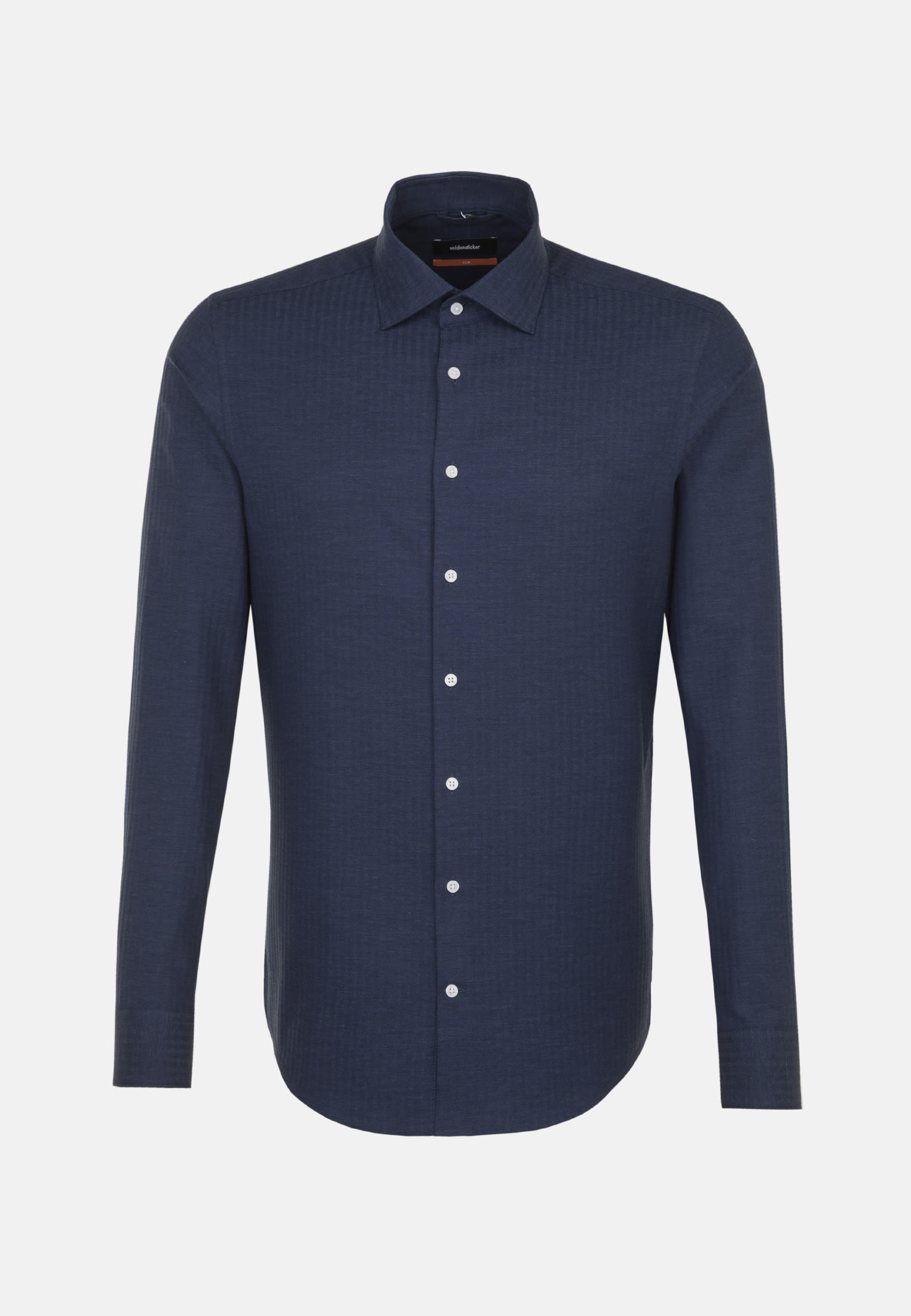 Easy-iron Structure Business Shirt in Slim with Kent-Collar in blau |  Seidensticker Onlineshop