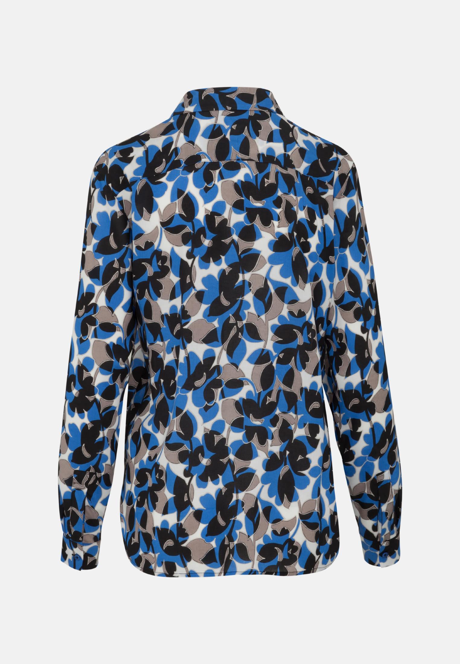 Popeline Schlupfbluse aus 100% Viskose in Mittelblau    Seidensticker Onlineshop