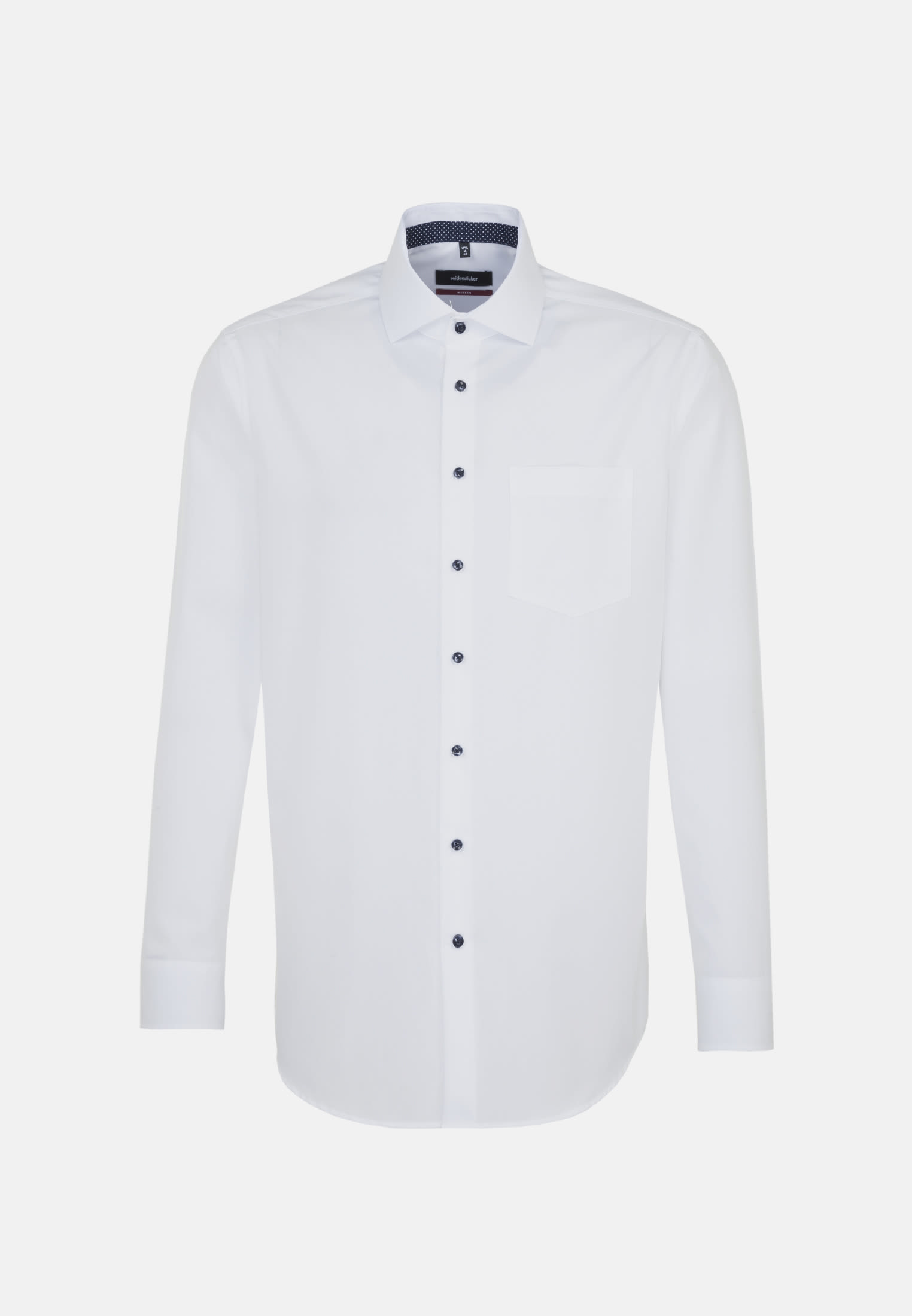 Non-iron Fil a fil Business Shirt in Modern with Kent-Collar and extra long arm in weiß |  Seidensticker Onlineshop