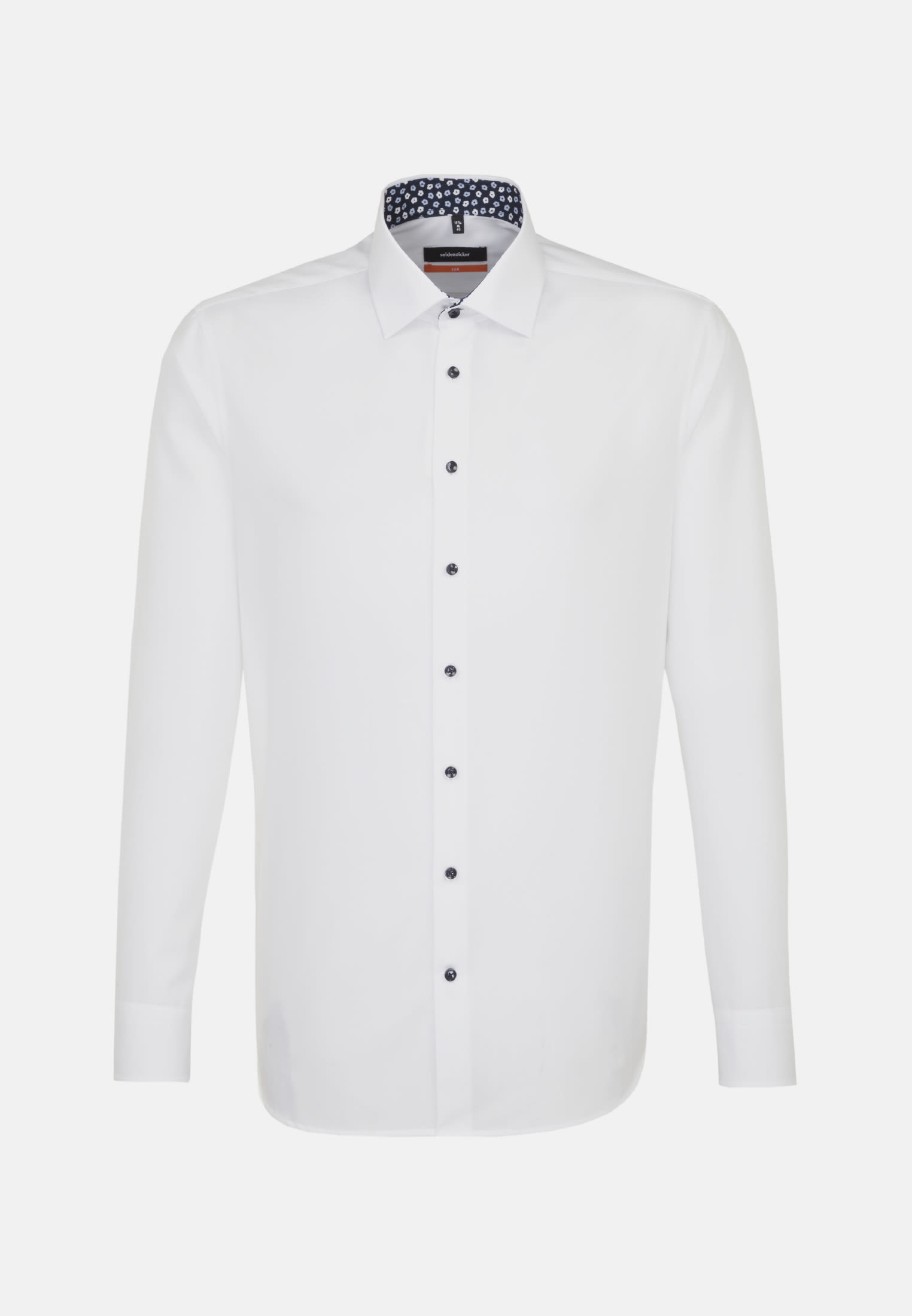 Non-iron Poplin Business Shirt in Slim with Kent-Collar in weiß |  Seidensticker Onlineshop