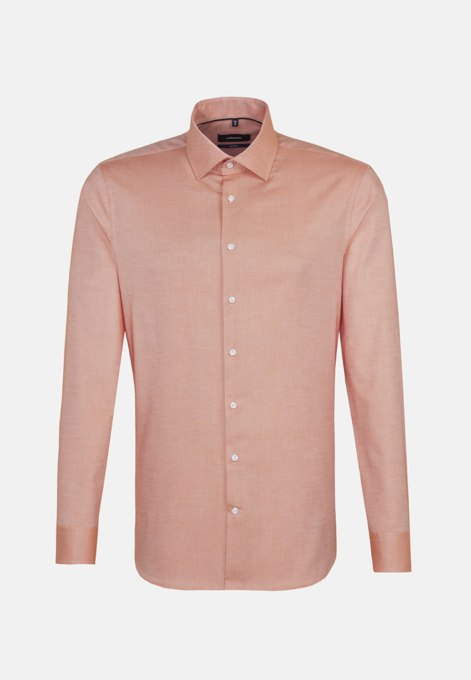 Non-iron Structure Business Shirt in Shaped with Kent-Collar in Orange |  Seidensticker Onlineshop