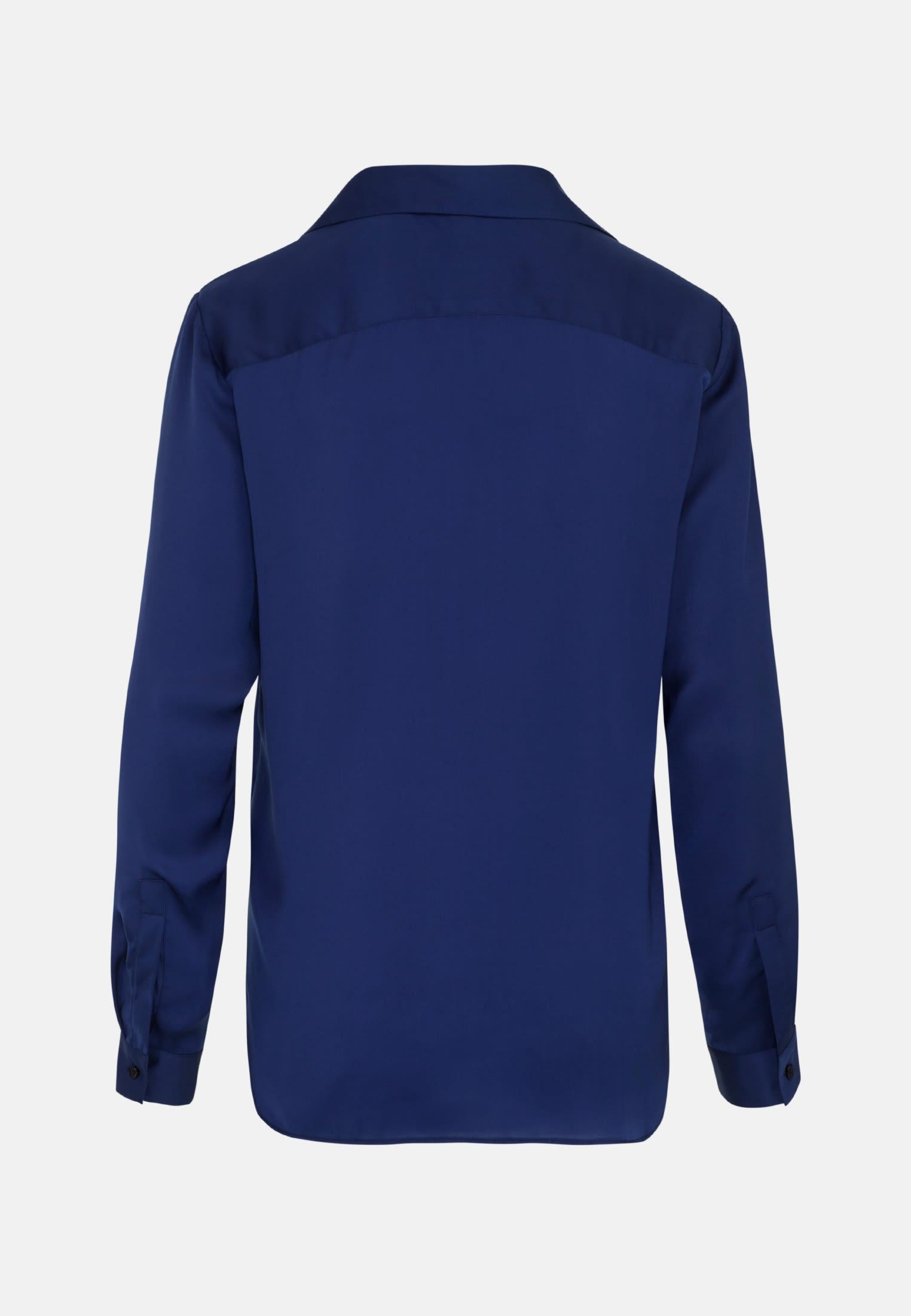 Satin Slip Over Blouse made of 100% Polyester in Dark blue |  Seidensticker Onlineshop
