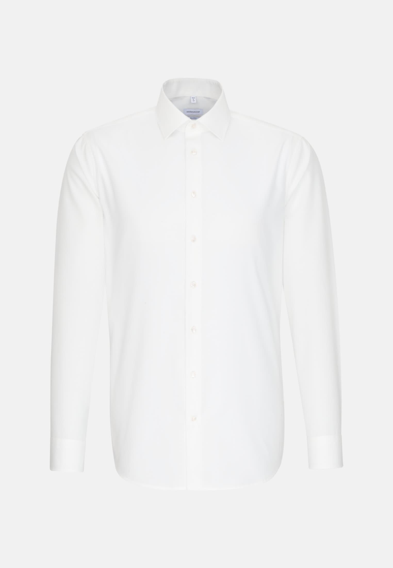 Non-iron Poplin Business Shirt in Shaped with Kent-Collar in Ecru    Seidensticker Onlineshop