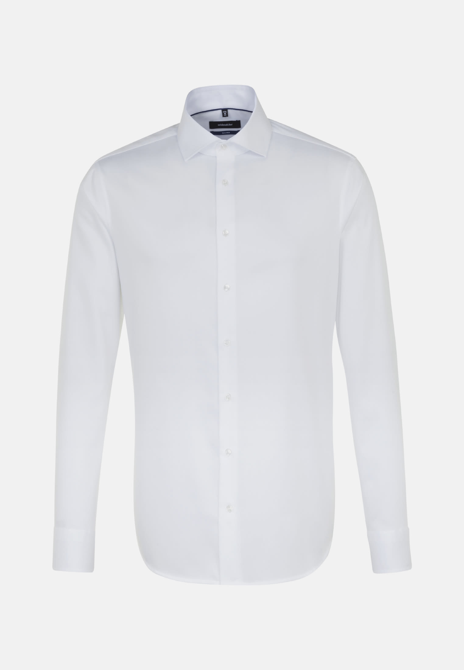 Non-iron Herringbone pattern Business Shirt in Tailored with Kent-Collar in White |  Seidensticker Onlineshop