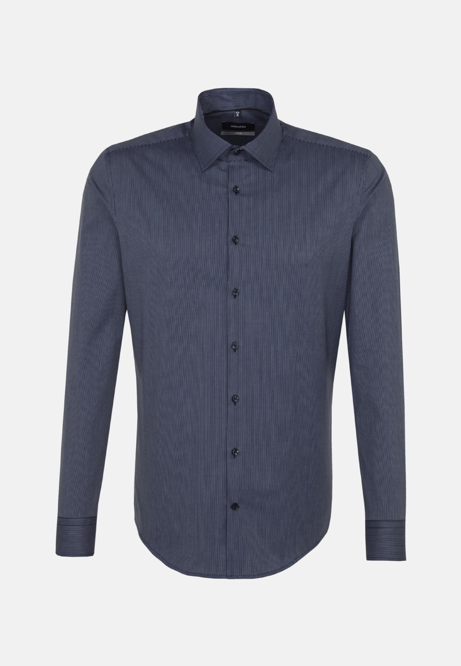Bügelfreies Popeline Business Hemd in X-Slim mit Kentkragen in Mittelblau |  Seidensticker Onlineshop