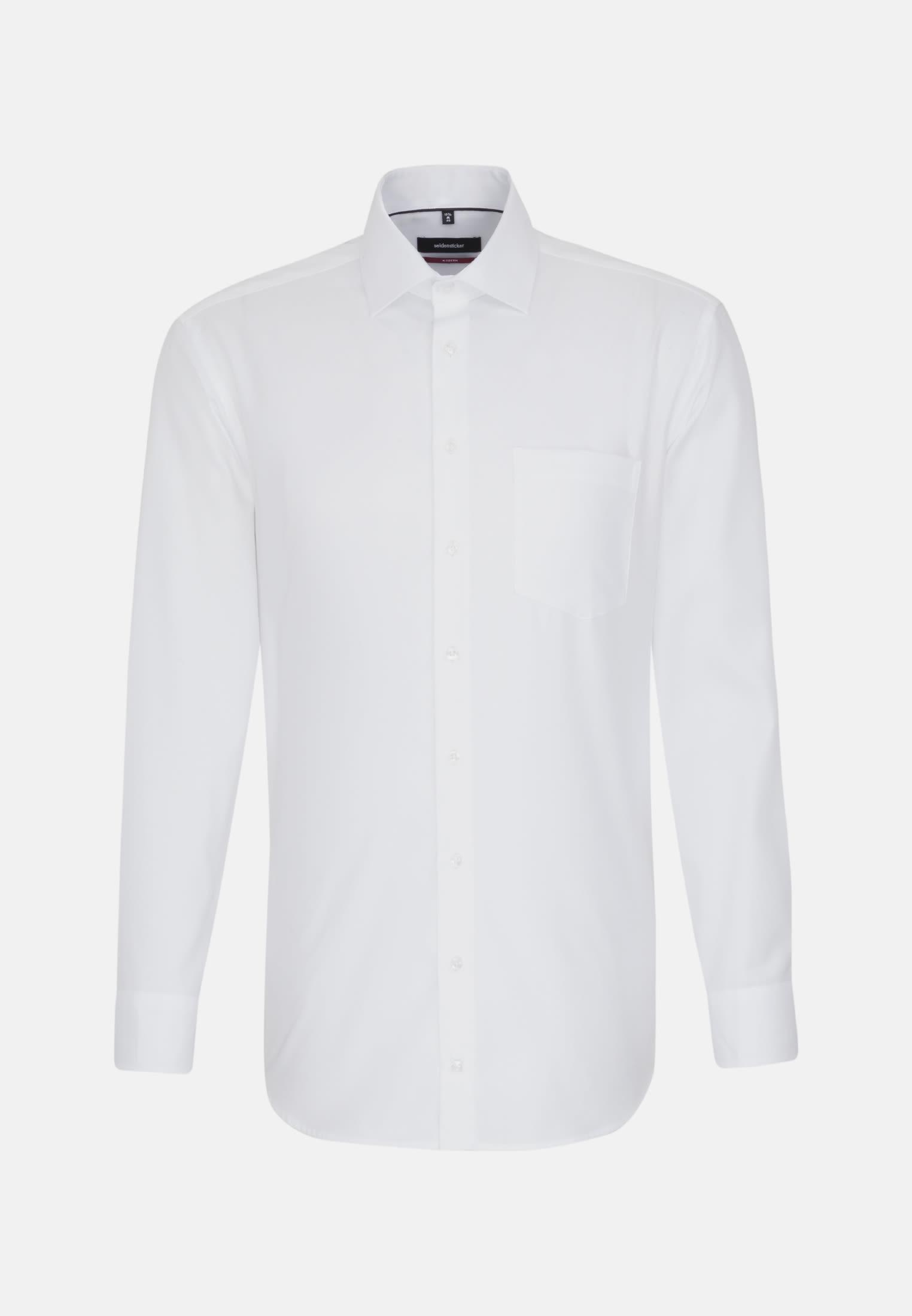 Non-iron Structure Business Shirt in Modern with Kent-Collar in weiß    Seidensticker Onlineshop