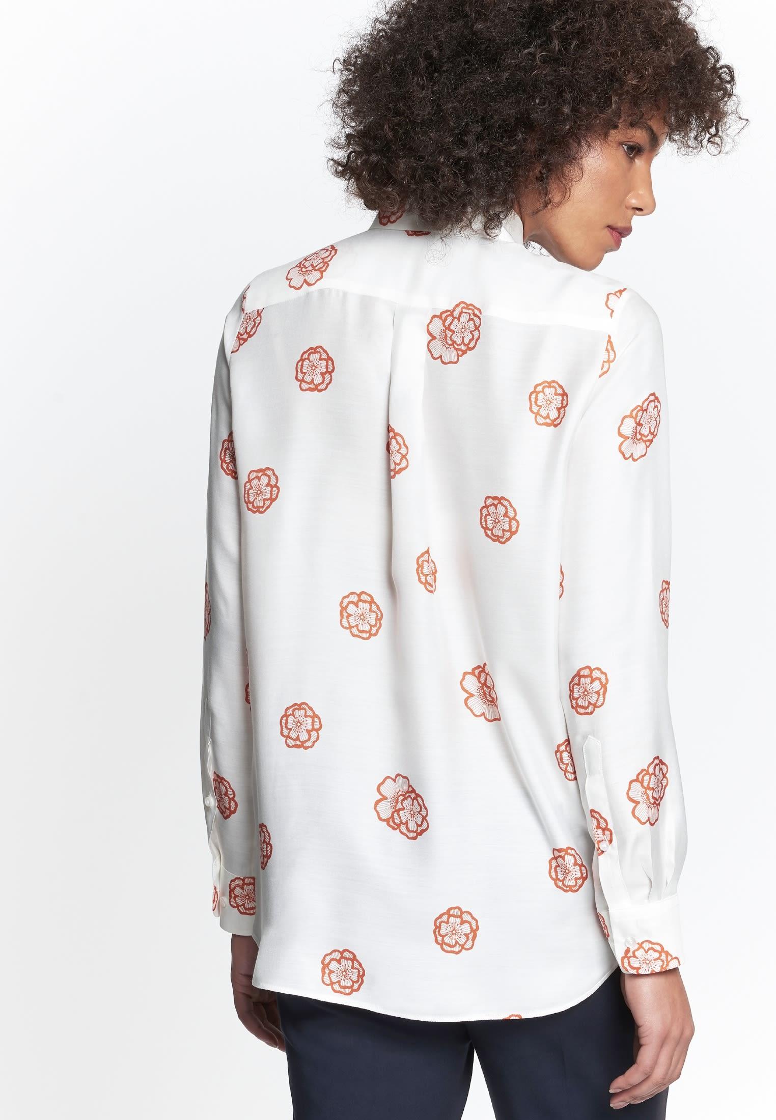 Voile Hemdbluse aus Seidenmischung in Orange    Seidensticker Onlineshop