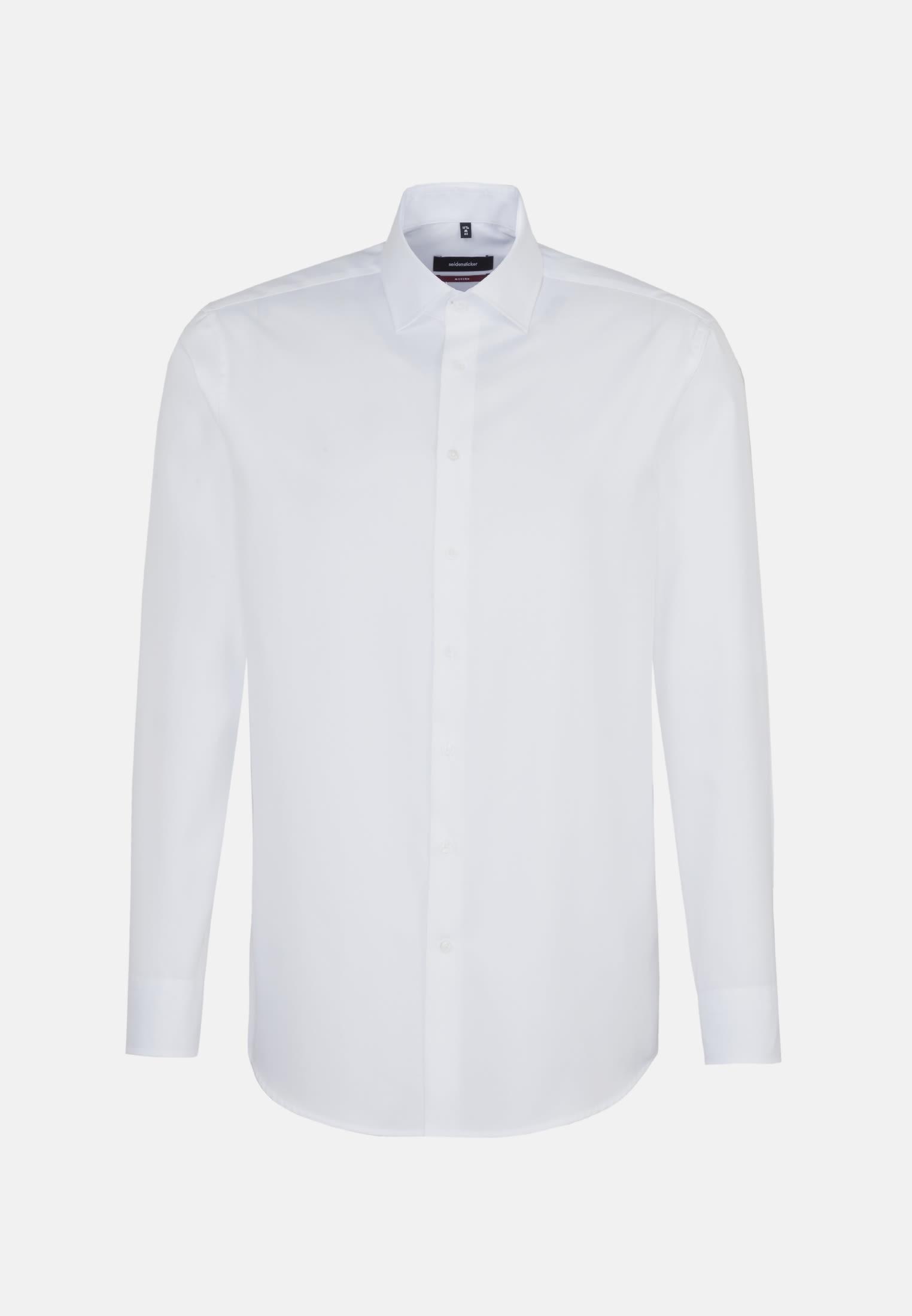 Easy-iron Twill Business Shirt in Modern with Kent-Collar in weiß    Seidensticker Onlineshop