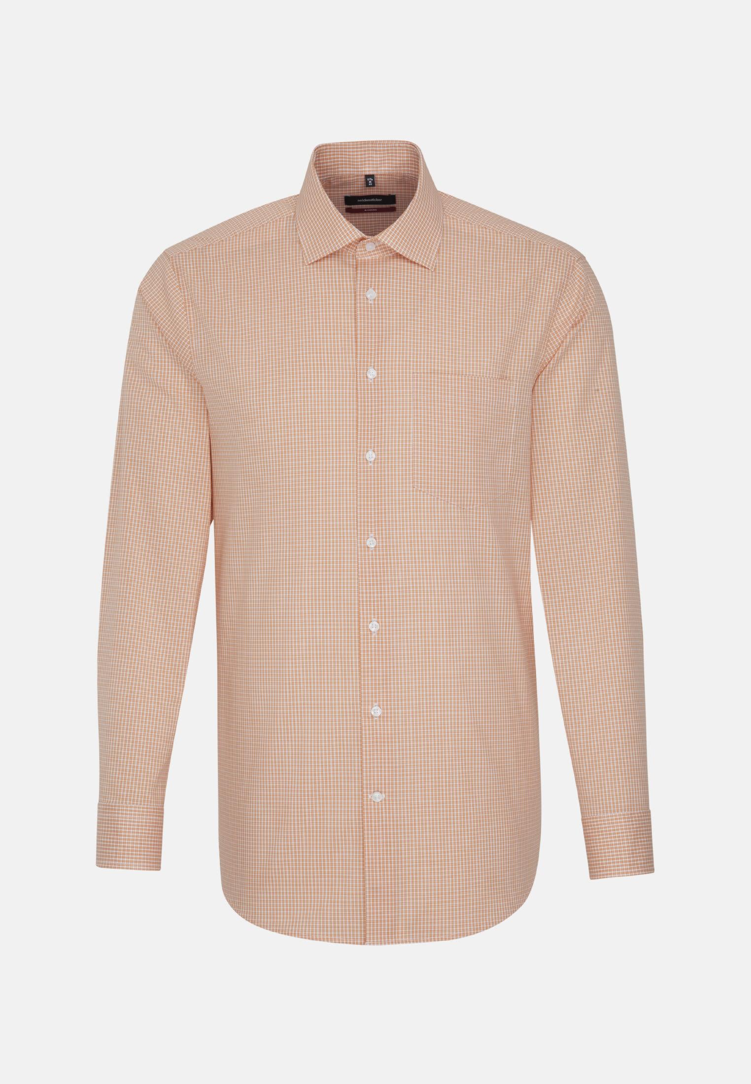 Bügelfreies Popeline Business Hemd in Modern mit Kentkragen in Orange    Seidensticker Onlineshop