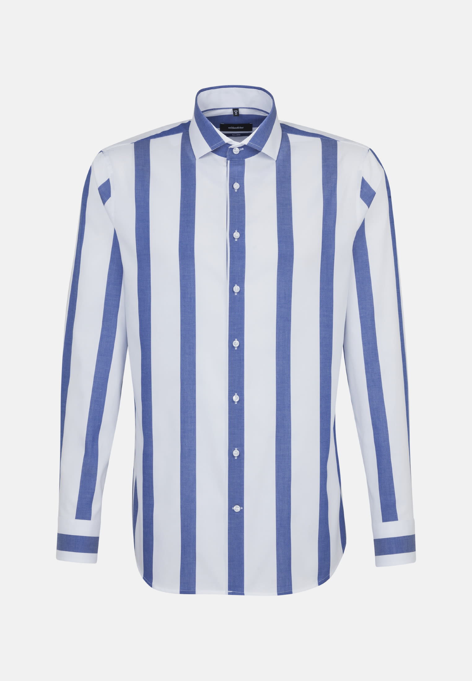 Bügelfreies Twill Business Hemd in Shaped mit Kentkragen in Mittelblau |  Seidensticker Onlineshop
