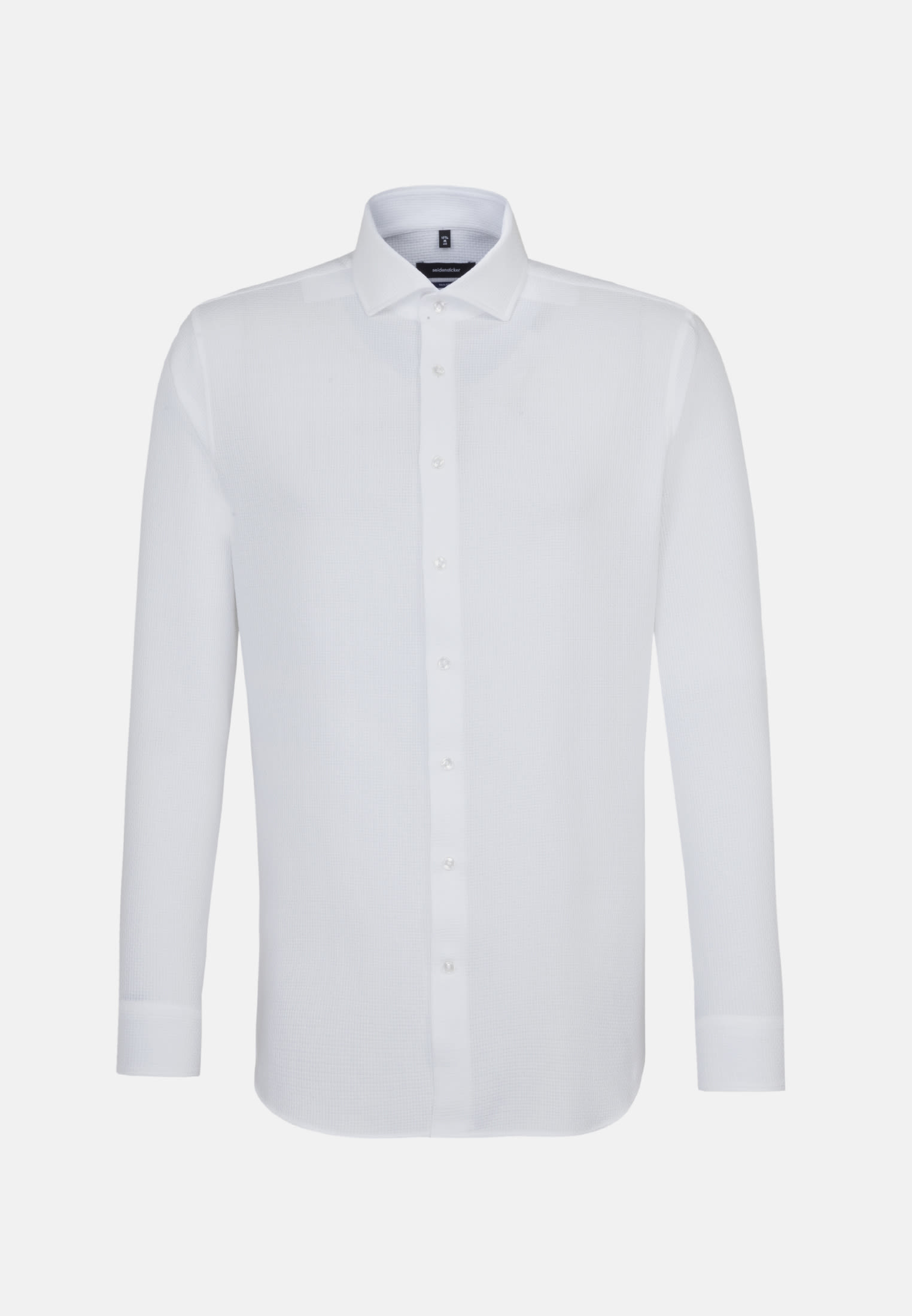 Easy-iron Structure Business Shirt in Tailored with Kent-Collar in White |  Seidensticker Onlineshop