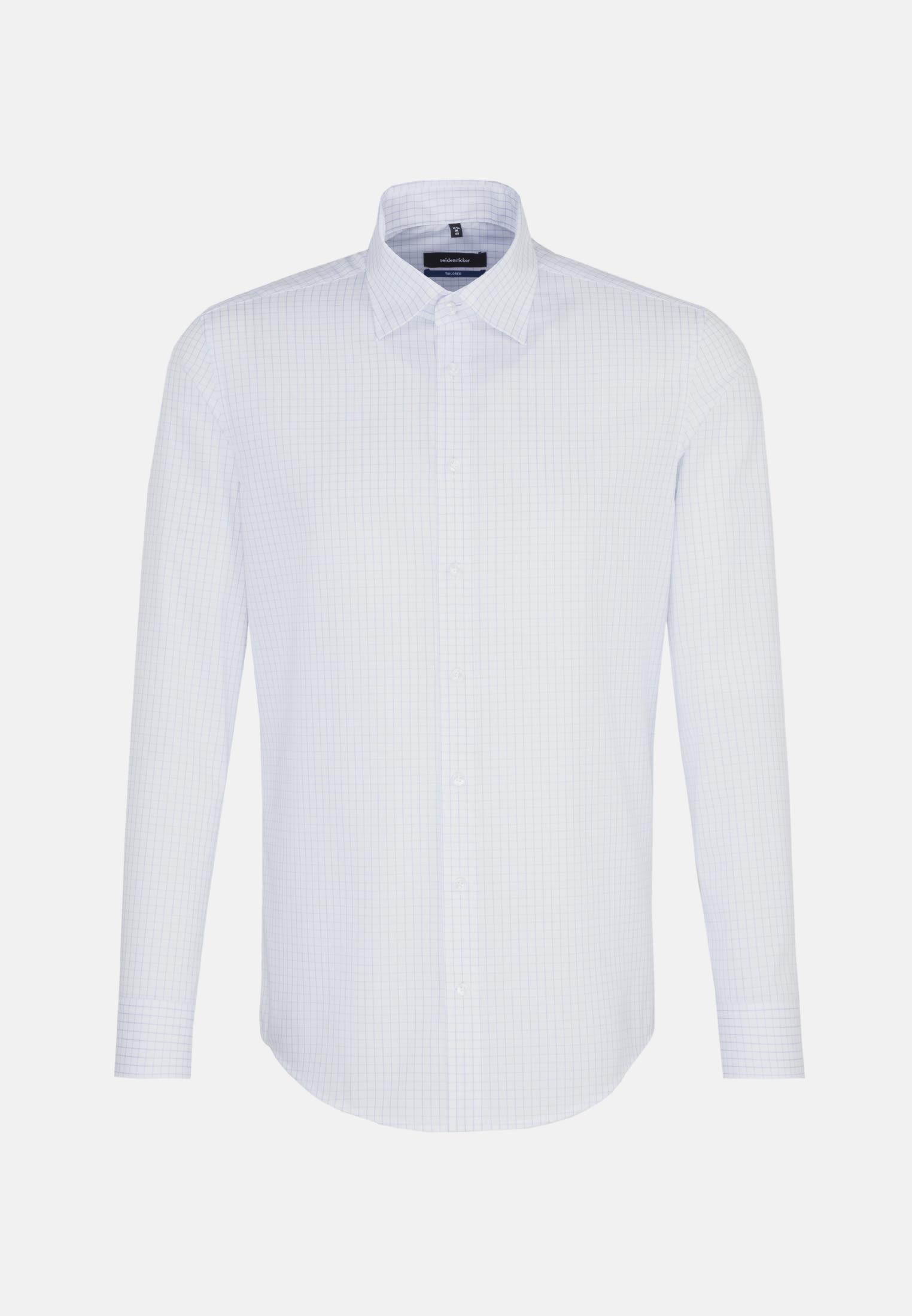 Bügelfreies Popeline Business Hemd in Shaped mit Kentkragen und extra langem Arm in Hellblau |  Seidensticker Onlineshop