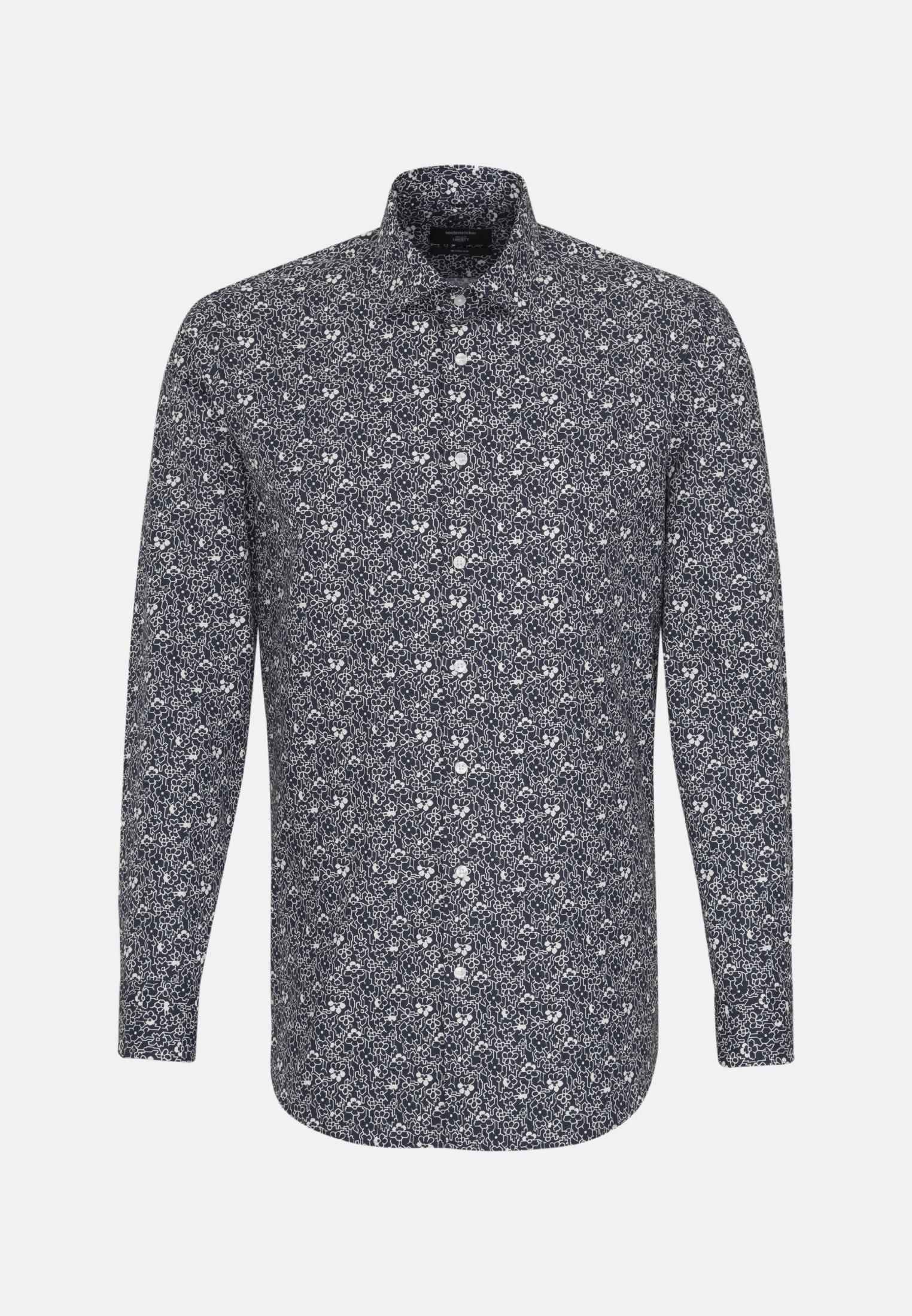 Easy-iron Poplin Business Shirt in Modern with Kent-Collar in Dark blue    Seidensticker Onlineshop