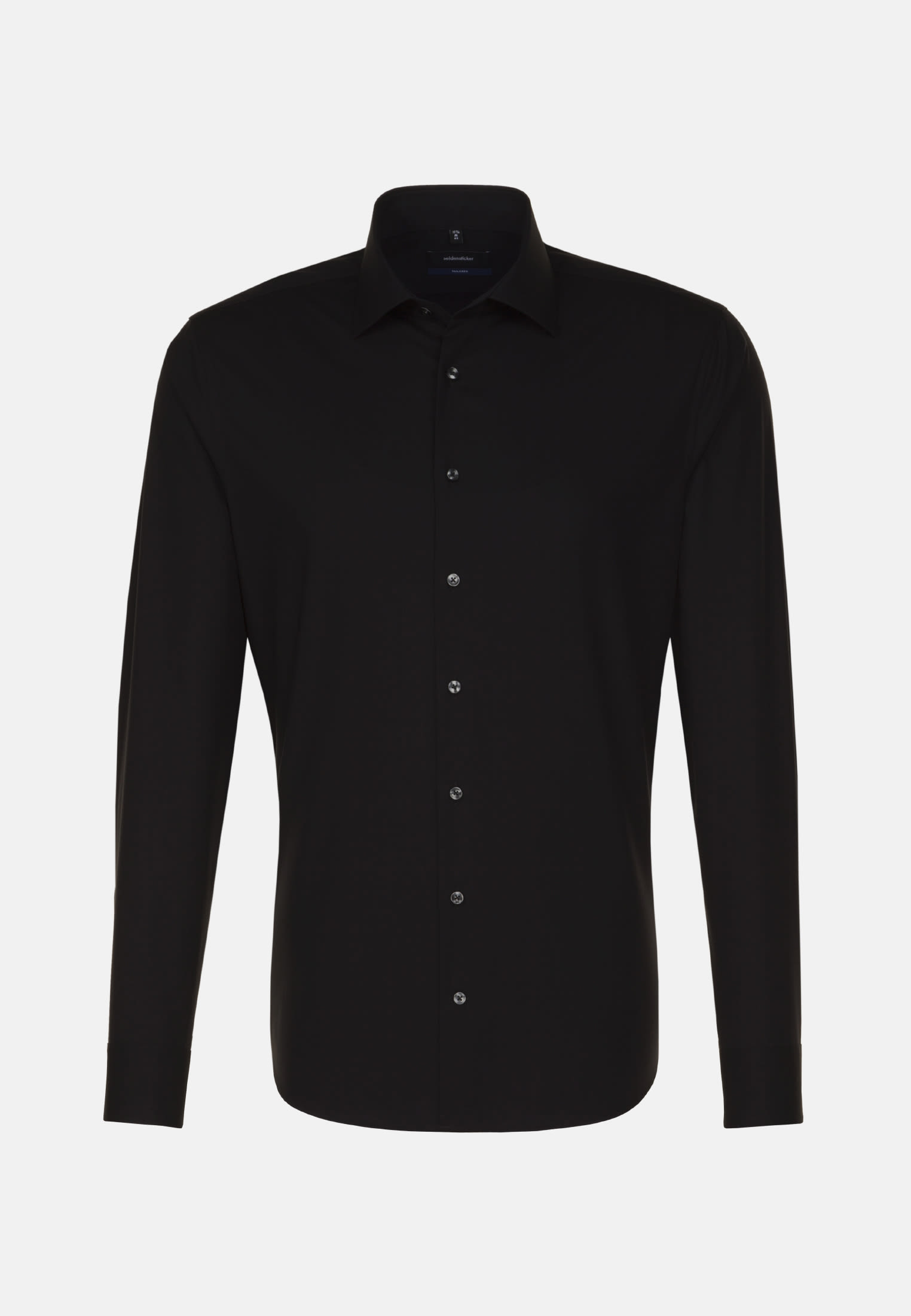 Non-iron Poplin Business Shirt in Shaped with Kent-Collar and extra long sleeve in Schwarz |  Seidensticker Onlineshop