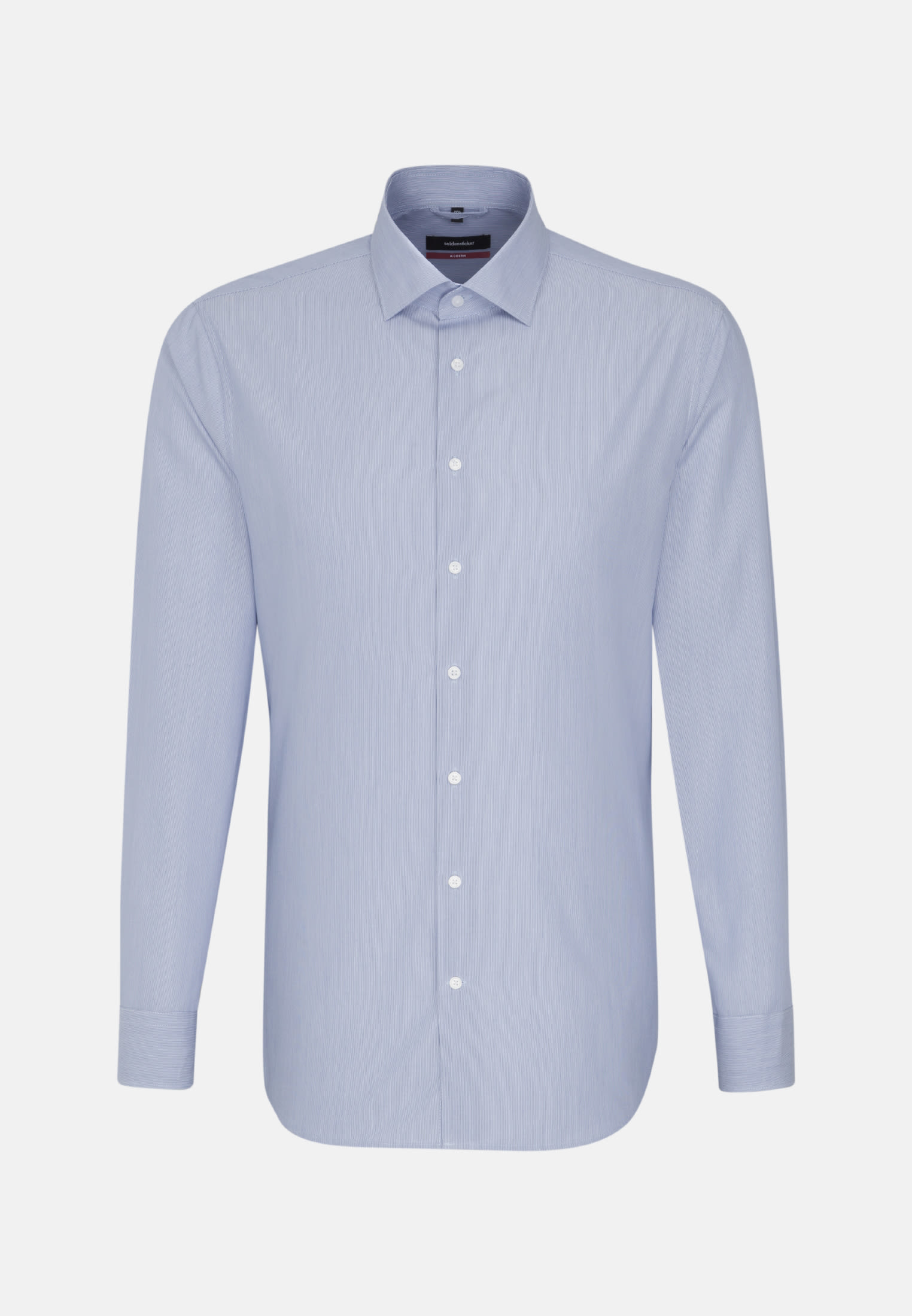 Poplin Business Shirt in Regular with Kent-Collar in Medium blue |  Seidensticker Onlineshop