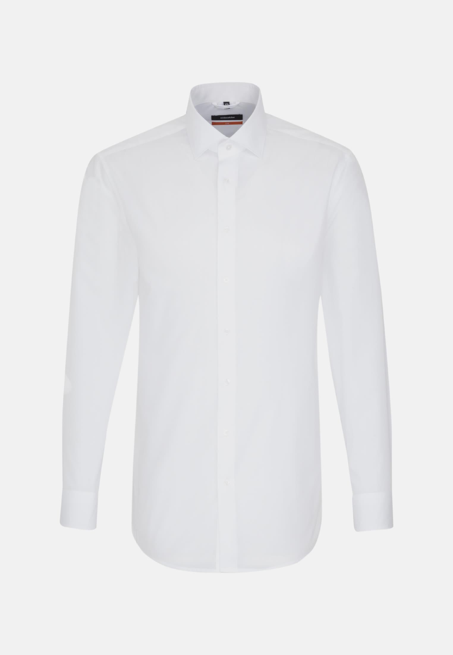 Poplin Business Shirt in Slim with Kent-Collar in White |  Seidensticker Onlineshop