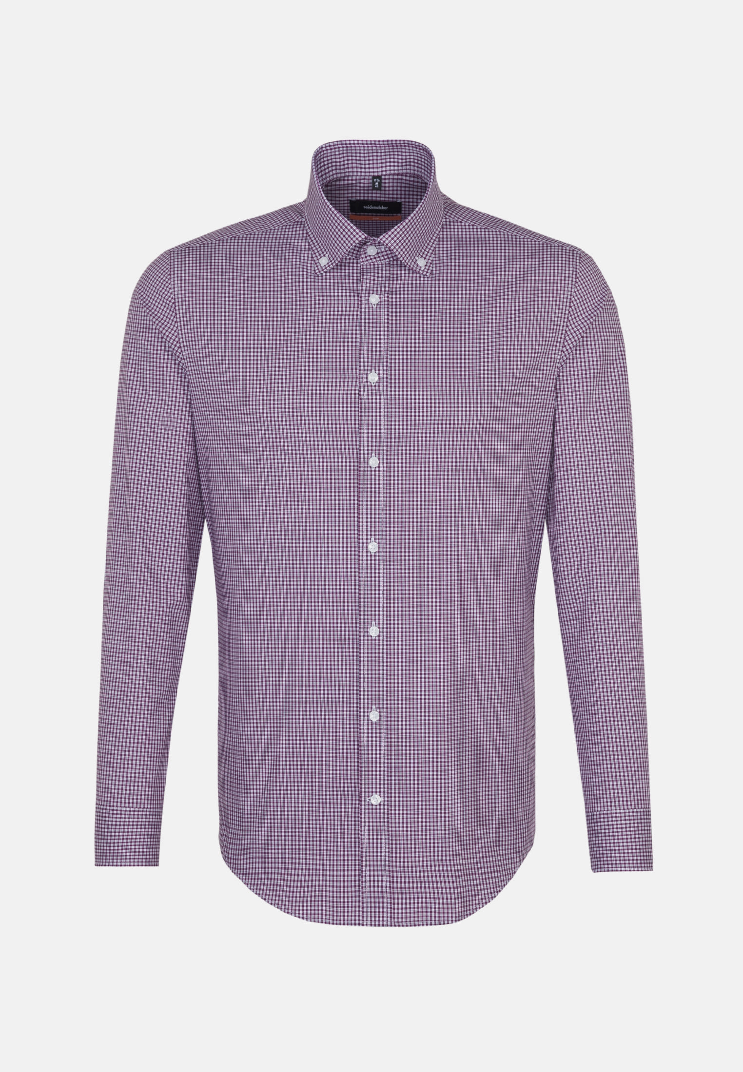 Non-iron Poplin Business Shirt in Slim with Button-Down-Collar in Purple |  Seidensticker Onlineshop
