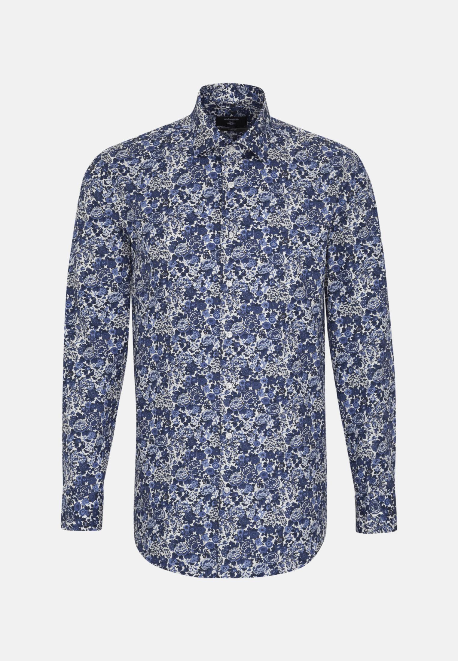 Easy-iron Poplin Business Shirt in Comfort with Kent-Collar in Medium blue |  Seidensticker Onlineshop