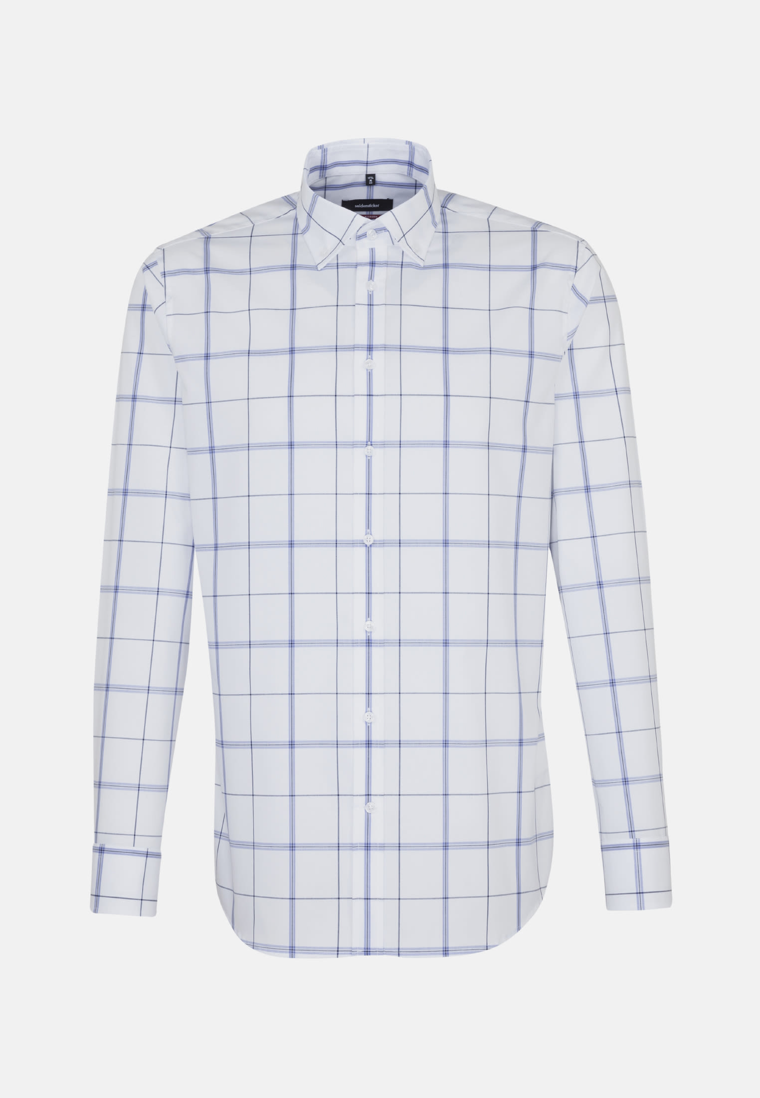 Non-iron Poplin Business Shirt in Modern with Button-Down-Collar in Light blue    Seidensticker Onlineshop
