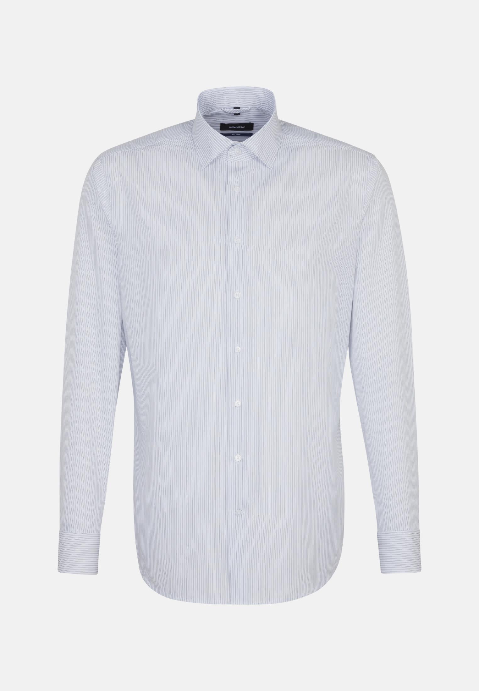 Poplin Business Shirt in Shaped with Kent-Collar in Dark blue |  Seidensticker Onlineshop