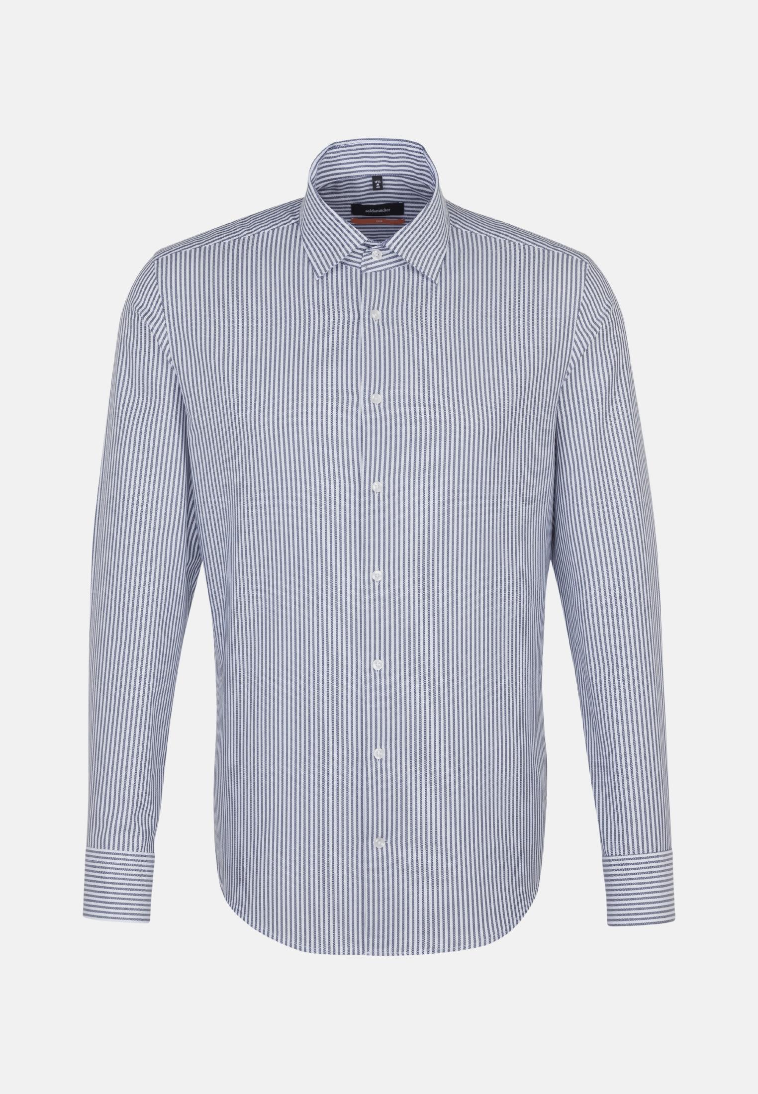 Easy-iron Structure Business Shirt in Slim with Kent-Collar in Dark blue |  Seidensticker Onlineshop