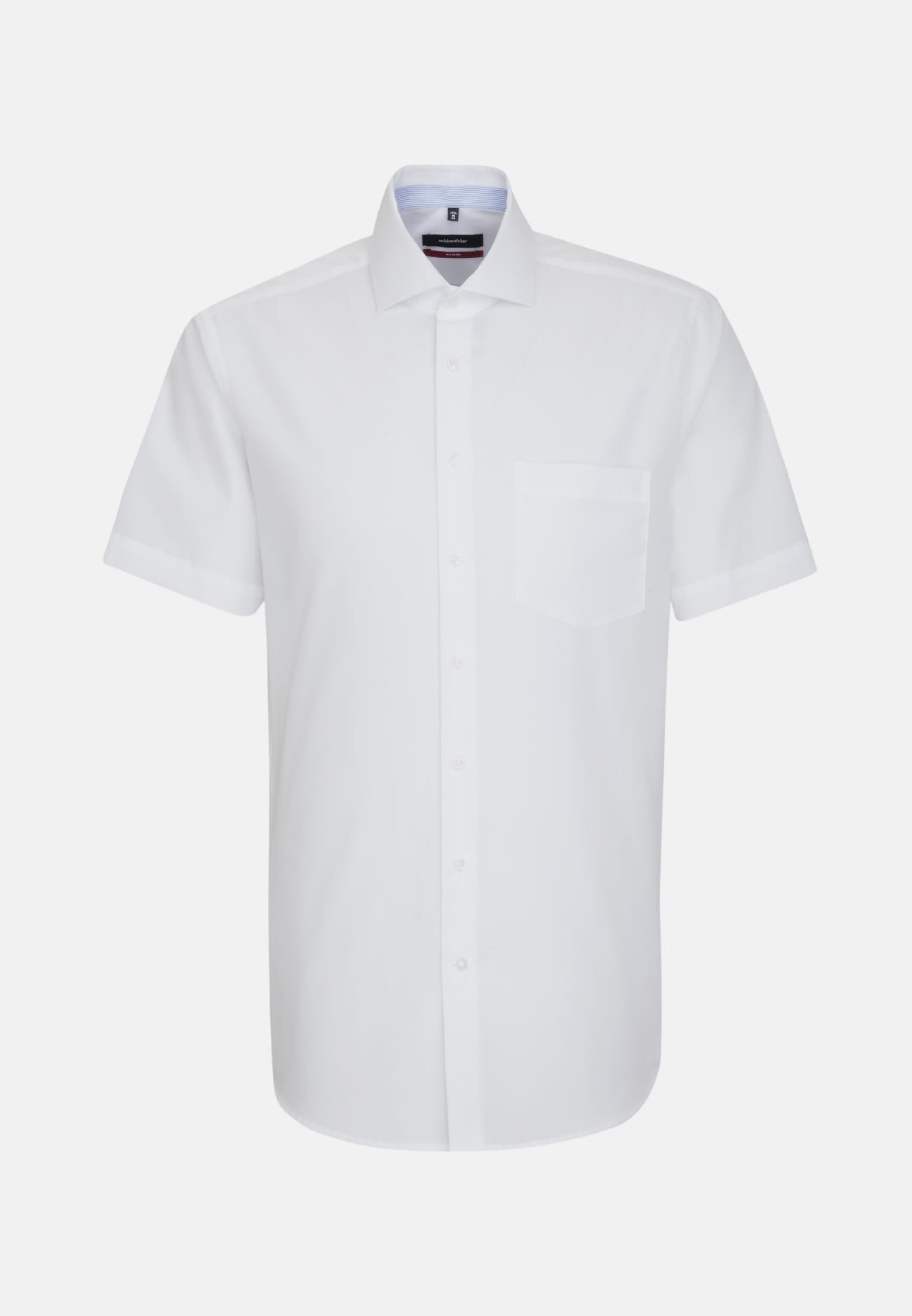Non-iron Chambray Short arm Business Shirt in Modern with Kent-Collar in weiß |  Seidensticker Onlineshop