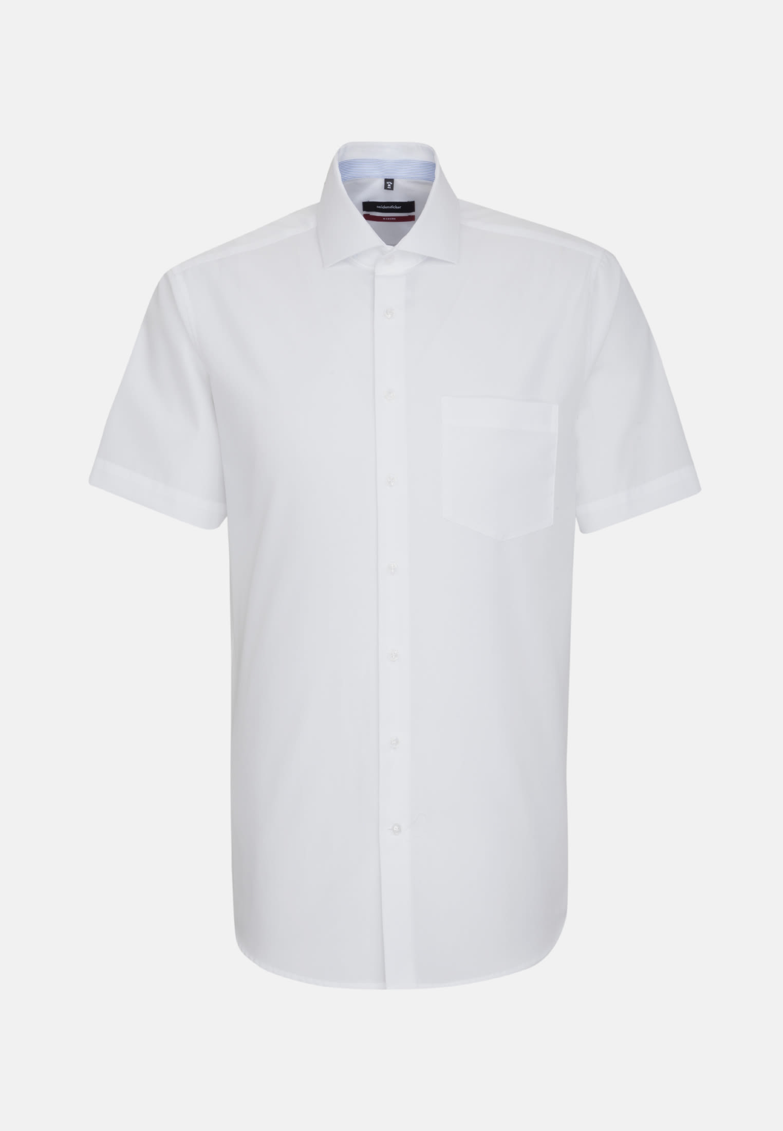 Non-iron Chambray Short sleeve Business Shirt in Regular with Kent-Collar in White |  Seidensticker Onlineshop